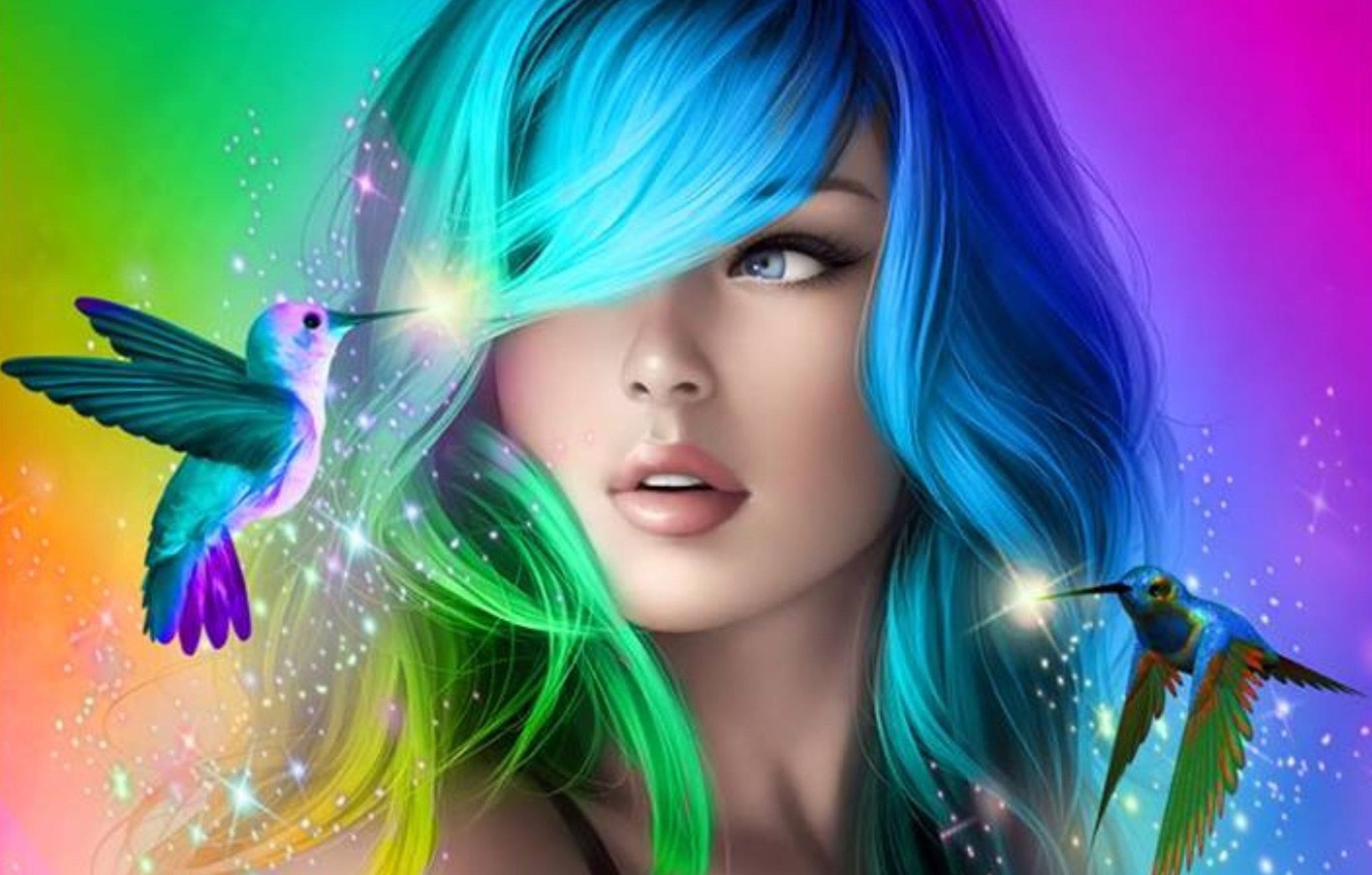 Face beautiful woman fantasy girl pictures.