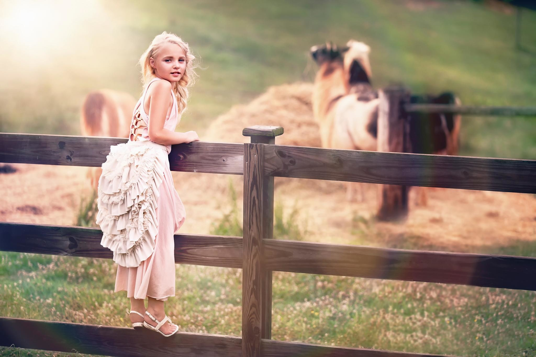 wallpaper.wiki-Photography-baby-girl-fence-country-farm-