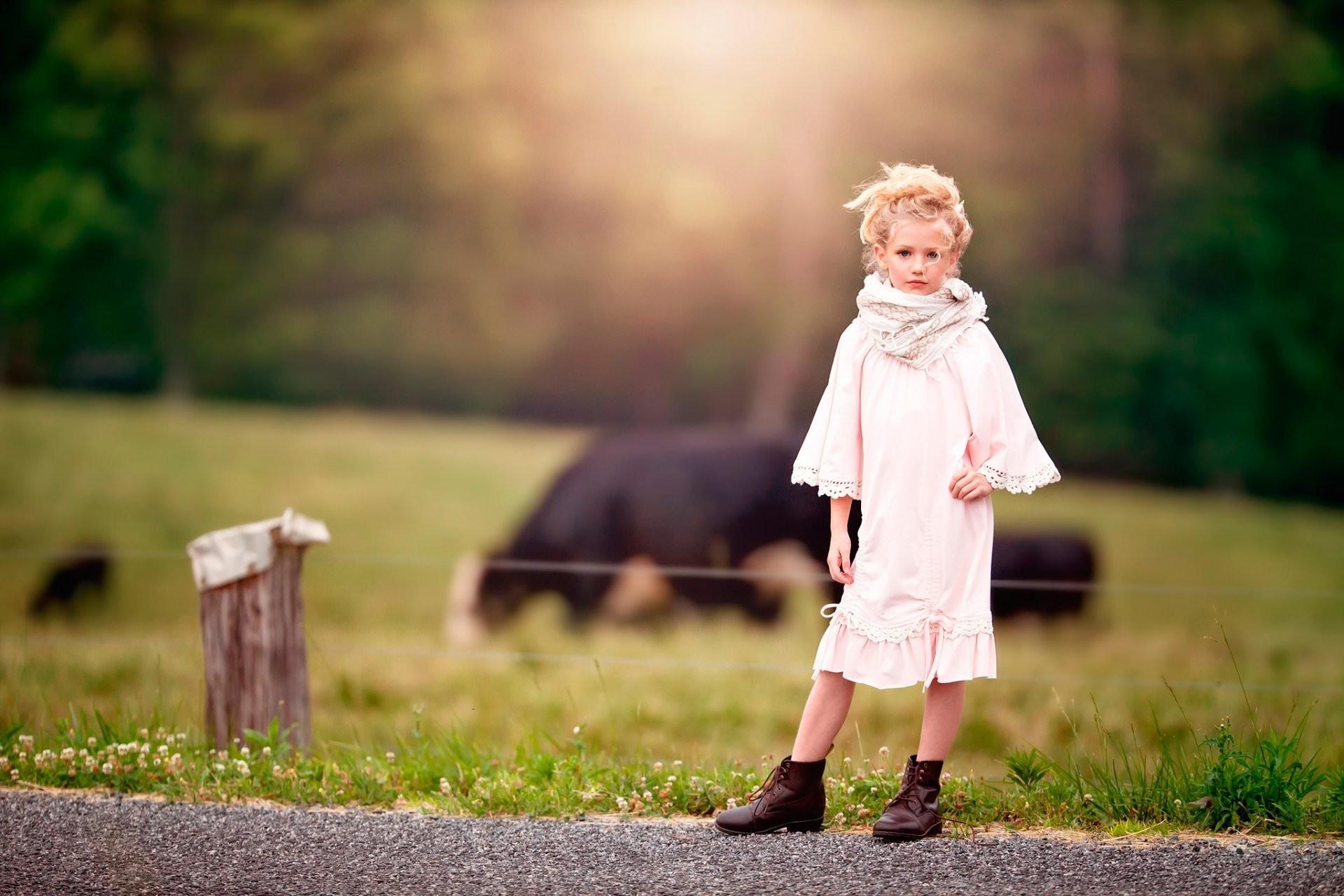 country girl girl farm bokeh