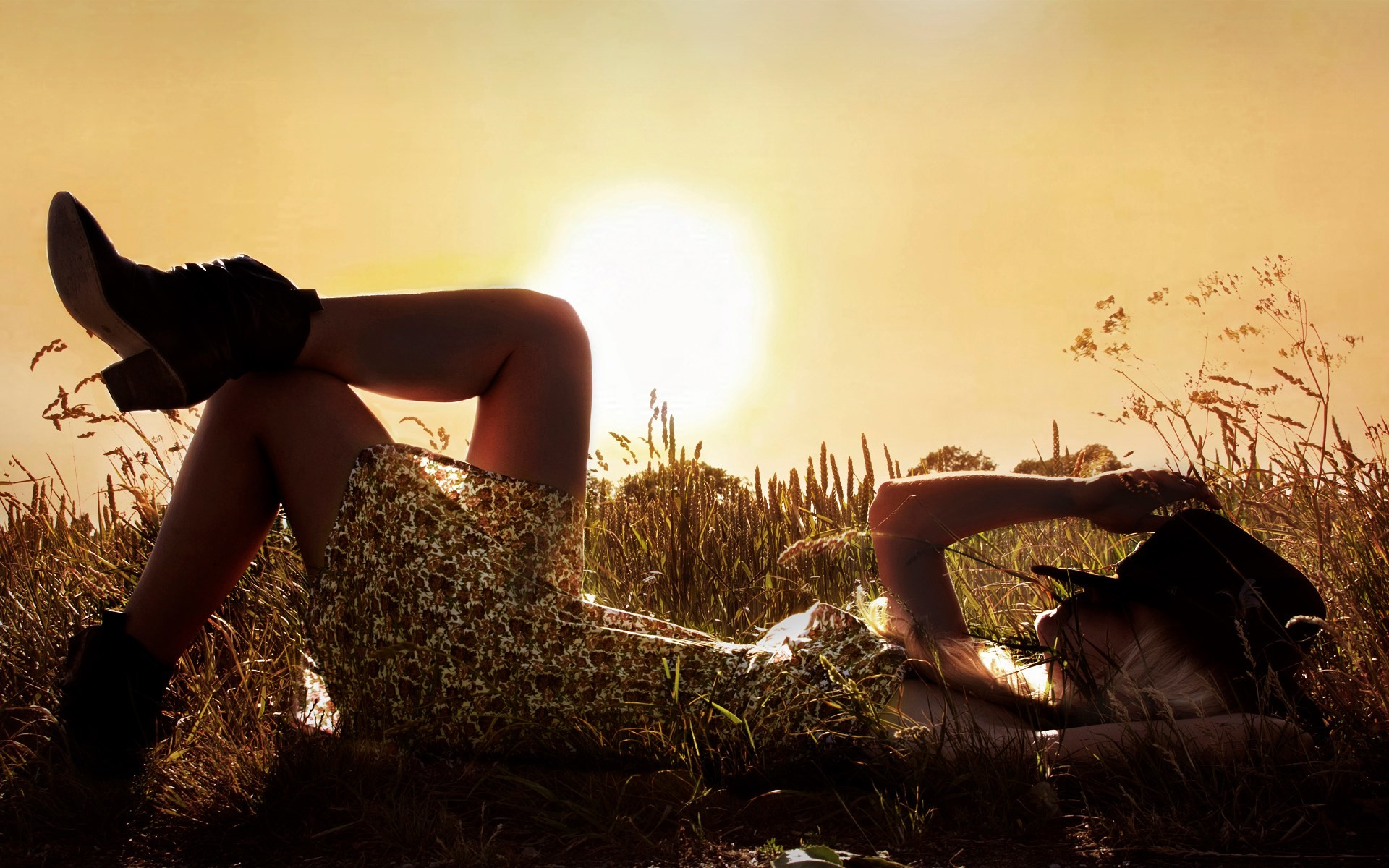 evening country girl sunset people photos
