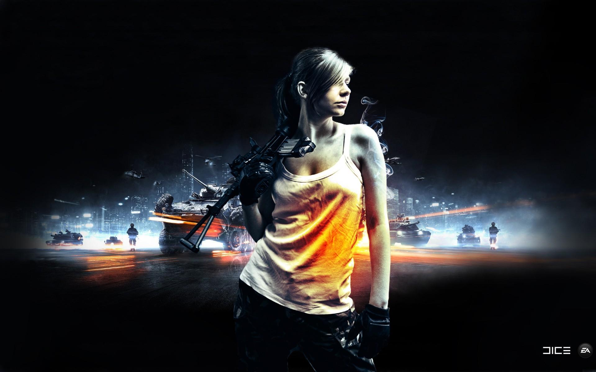 battlefield 3 wallpaper girl
