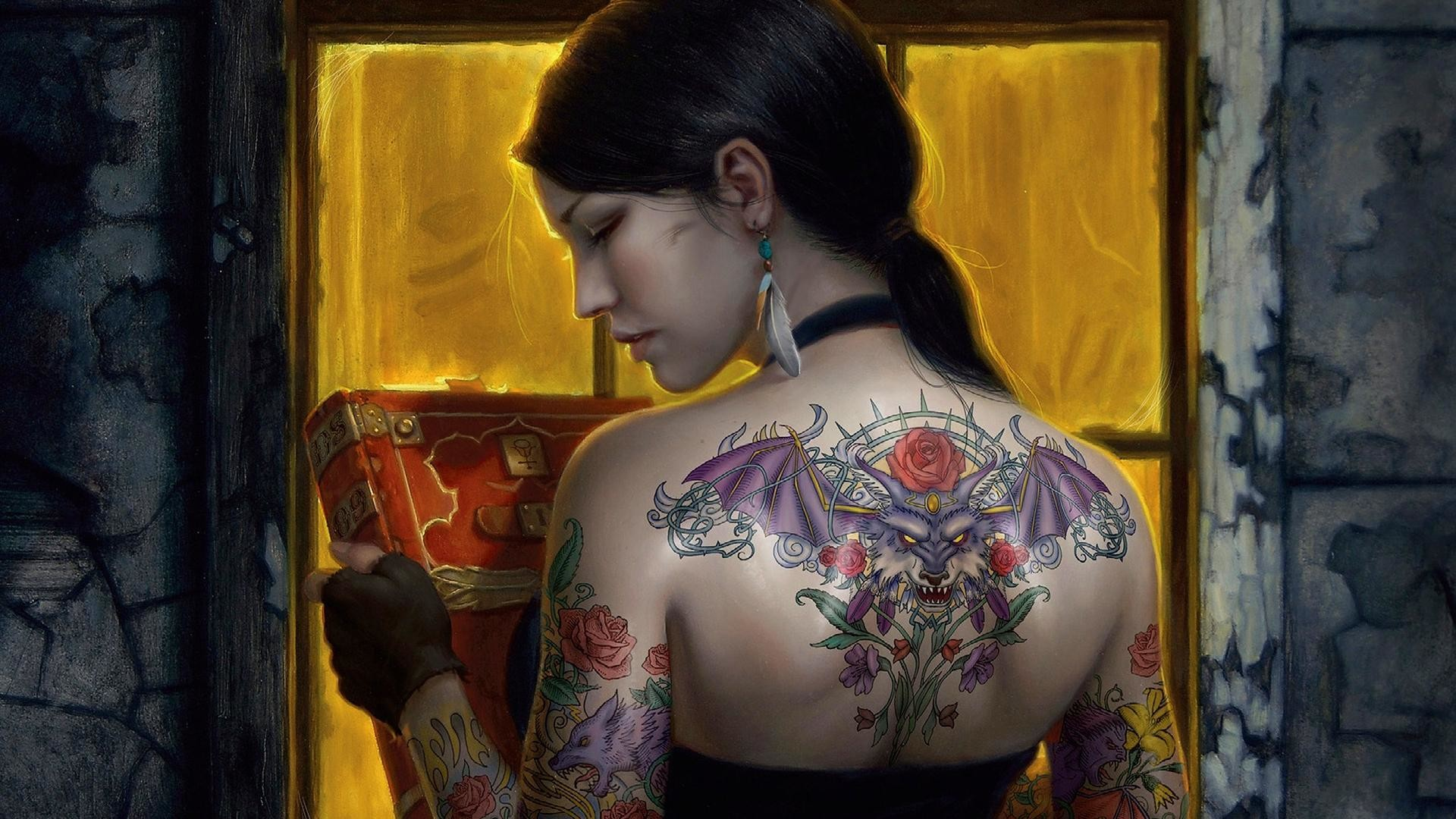 Tattoo Girls Designs HD Wallpaper of Tattoos