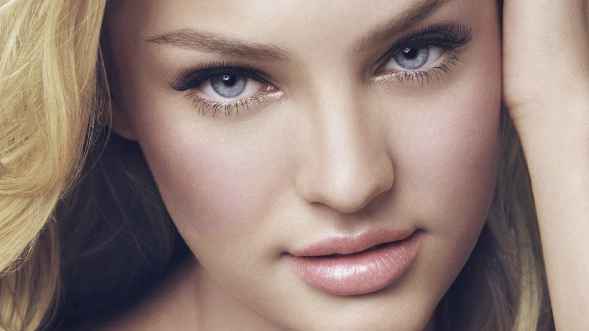 Candice Swanepoel close up HD Wallpaper in Full HD from the People  category. Tags: Blue Eyes, Candice Swanepoel, Close-Up, Make up
