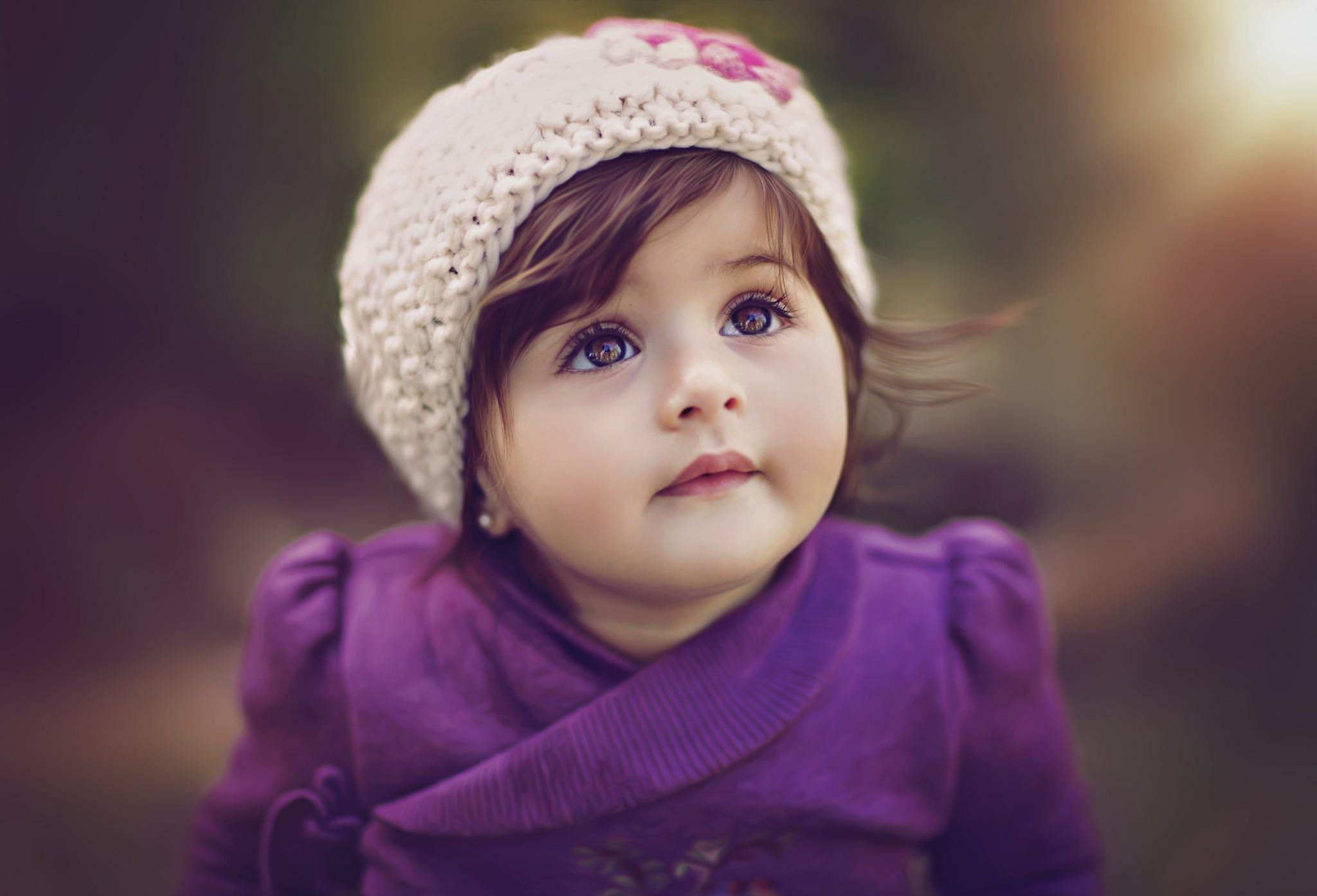 Cute Baby Girl Kids Wallpaper