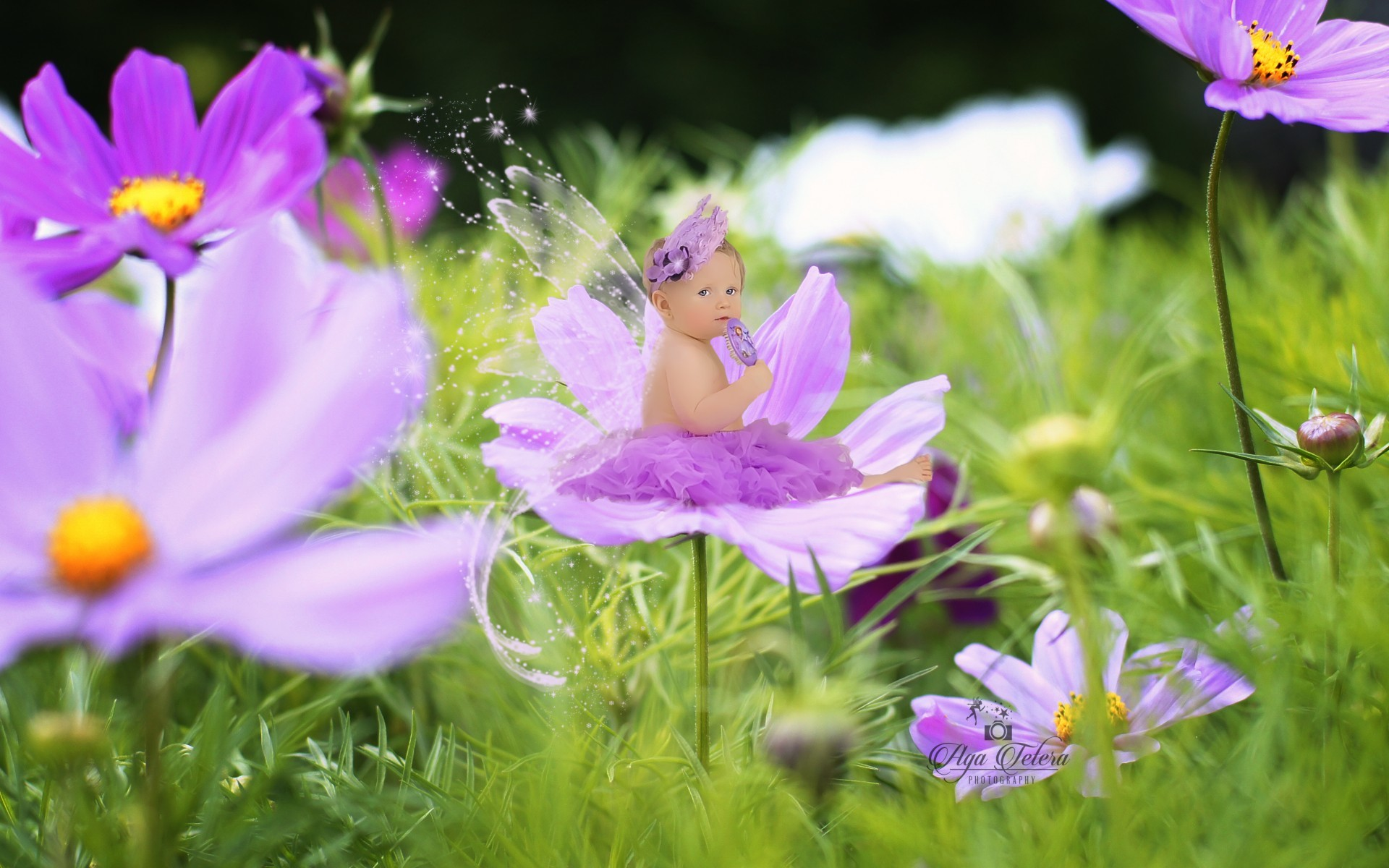 Cute / Cute baby girl Wallpaper