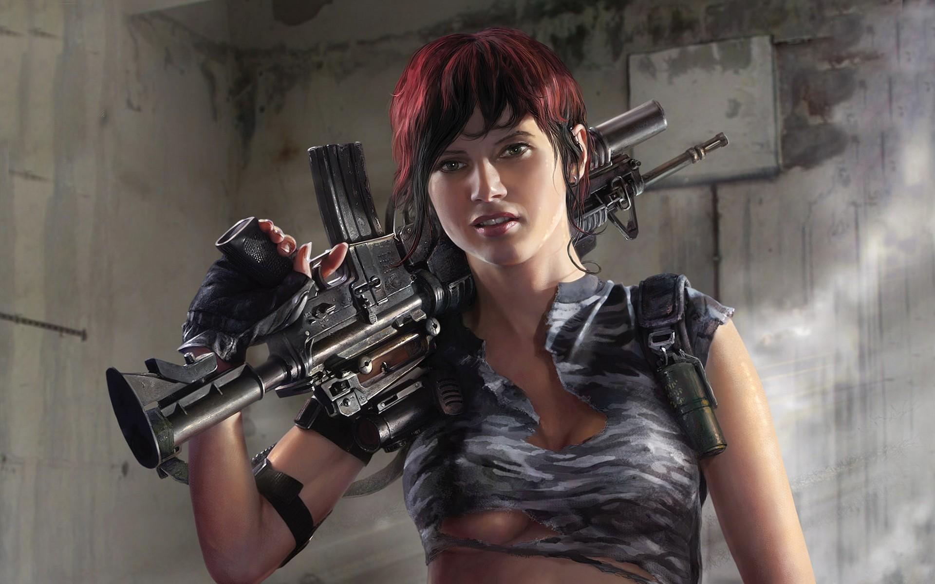 Women Guns Wallpaper Women, Guns, CGI, 3D, Girls