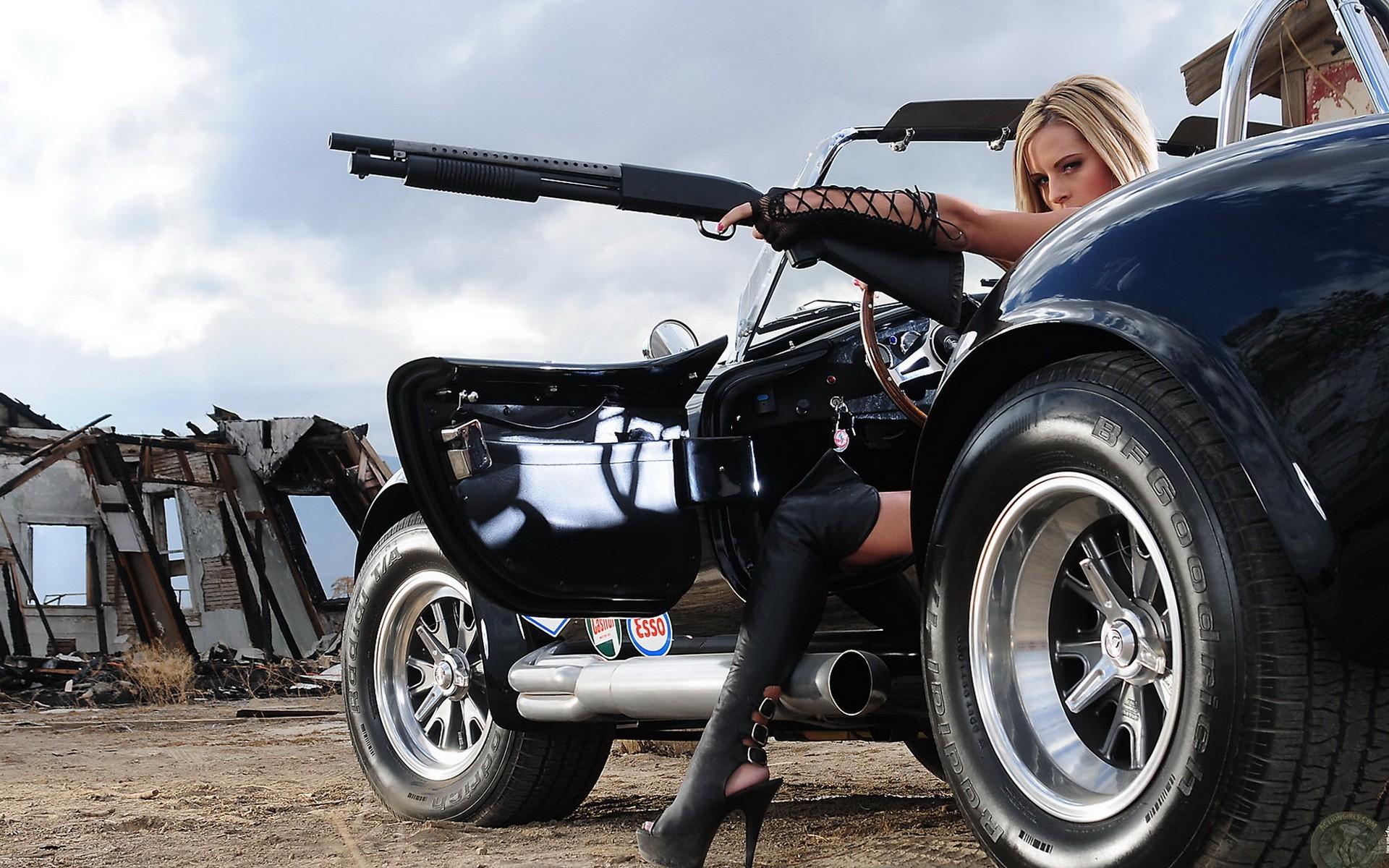wallpaper women · guns