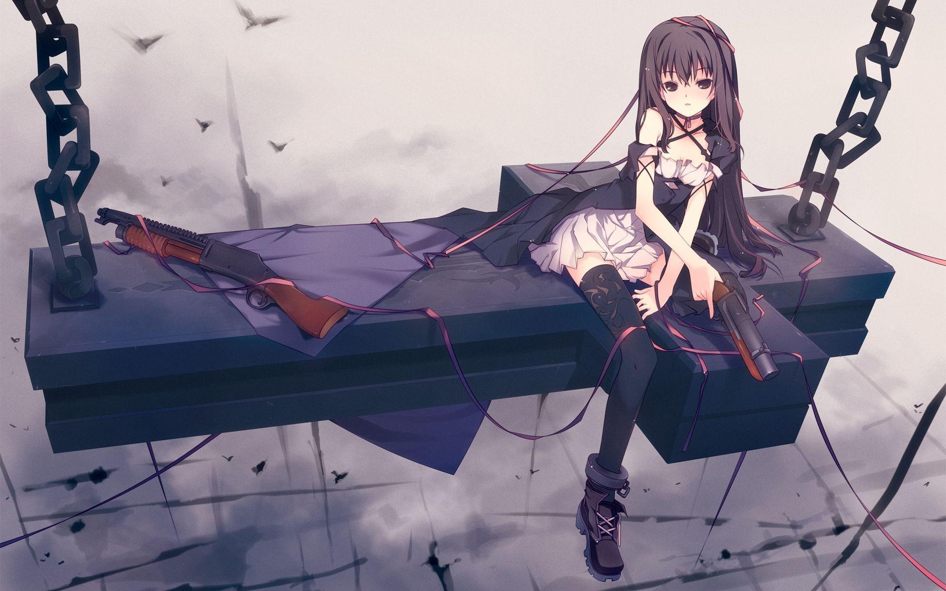 … girl with guns HD Wallpaper 1920×1200