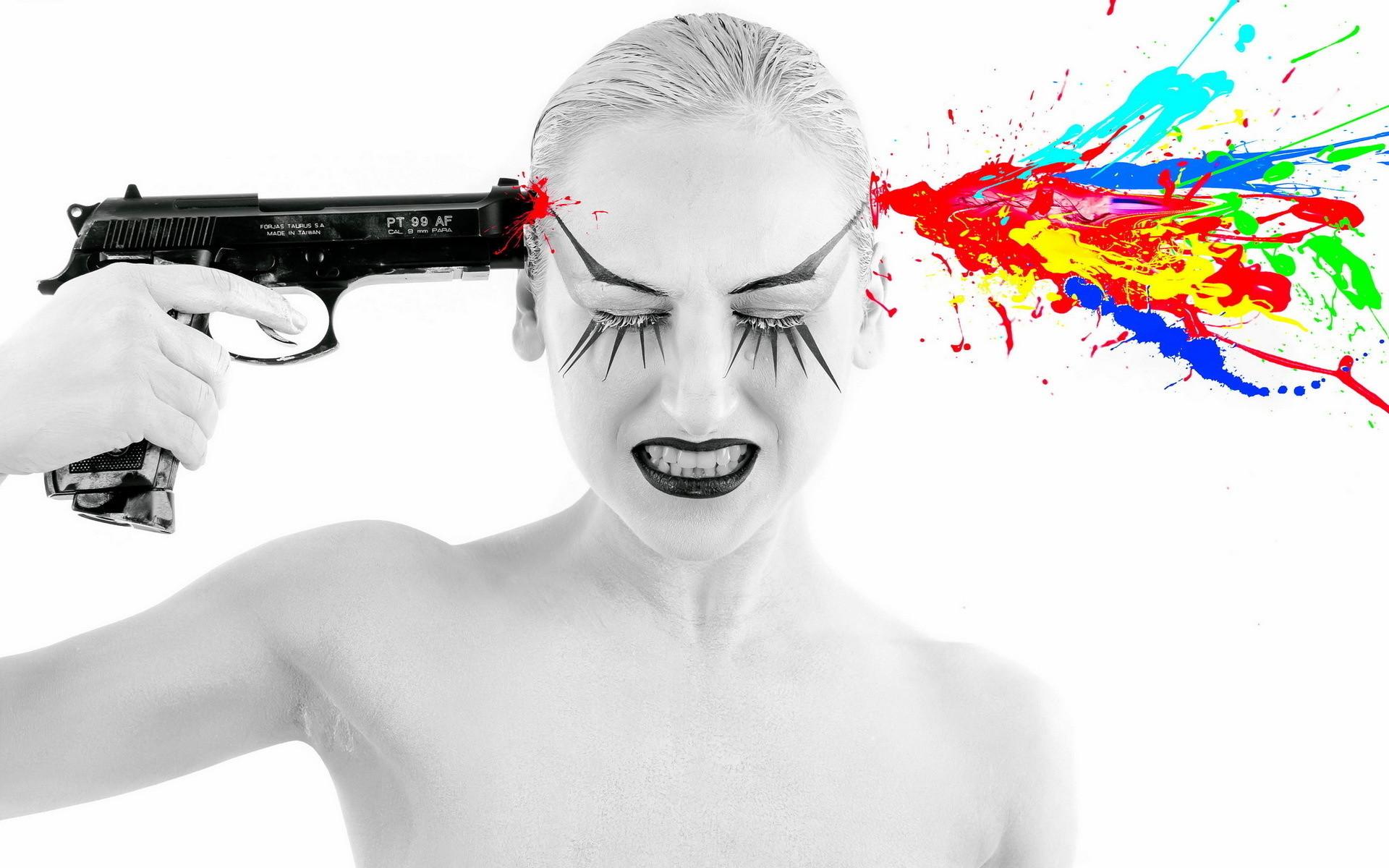 Girls And Guns Girl Gun Psychedelic Weapon Gun Mood Suicide Wallpaper At  Dark Wallpapers