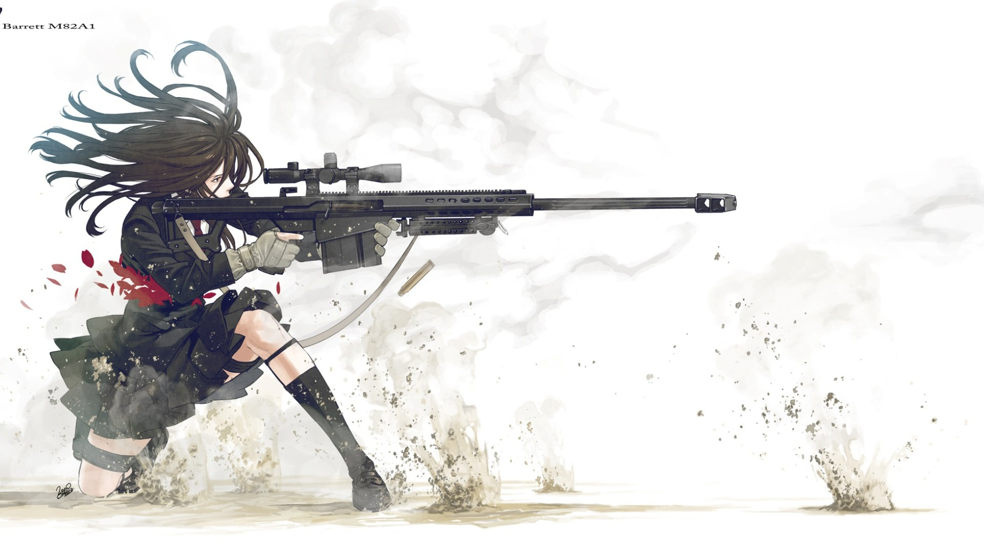 Anime Girl with Barret M82A1