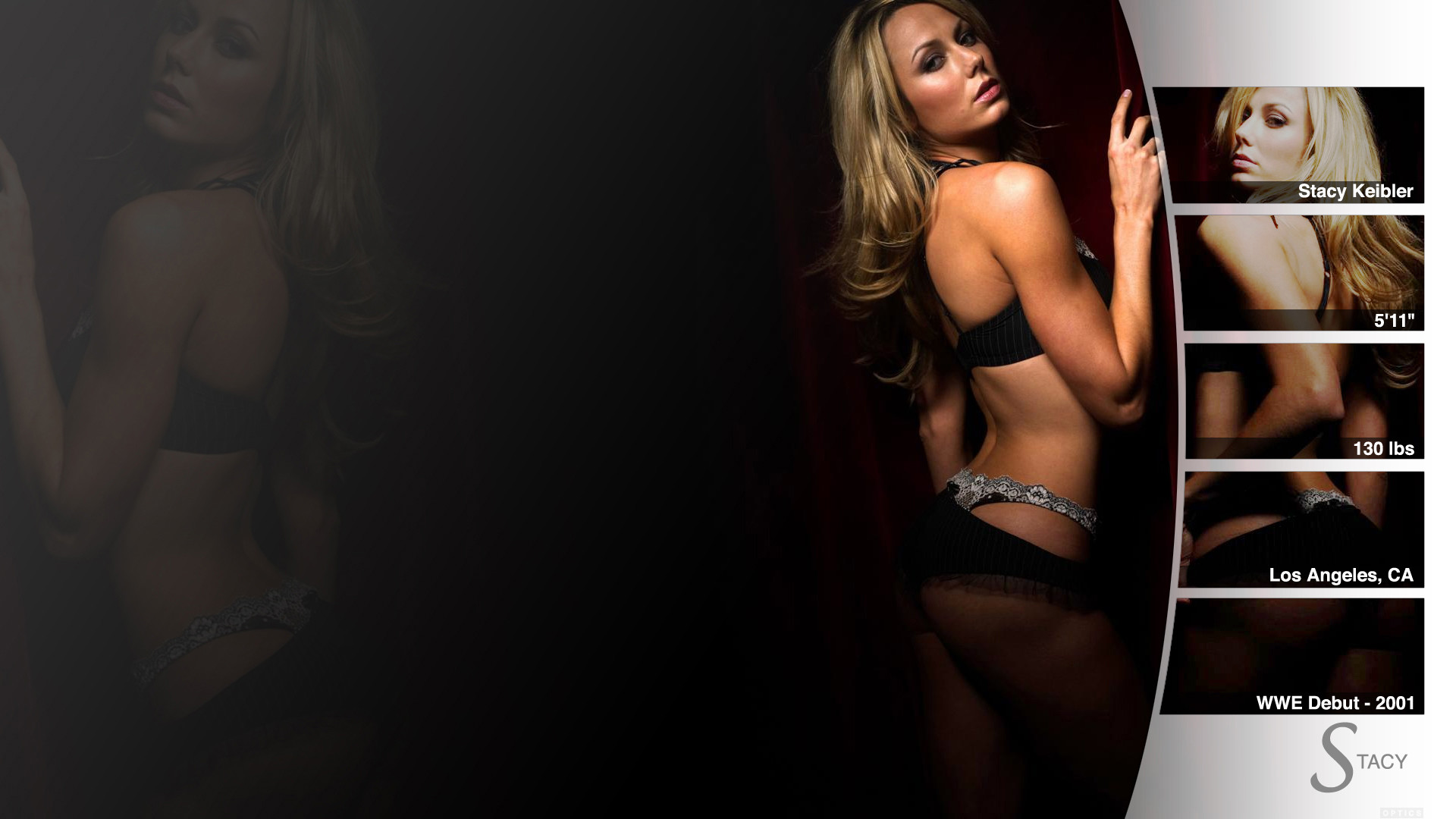 … Stacy Keibler – WWE Wallpaper by 0PT1C5