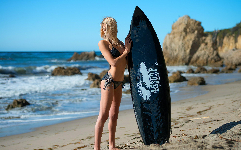 Hot Surfer Girl Widescreen Wallpaper 58685