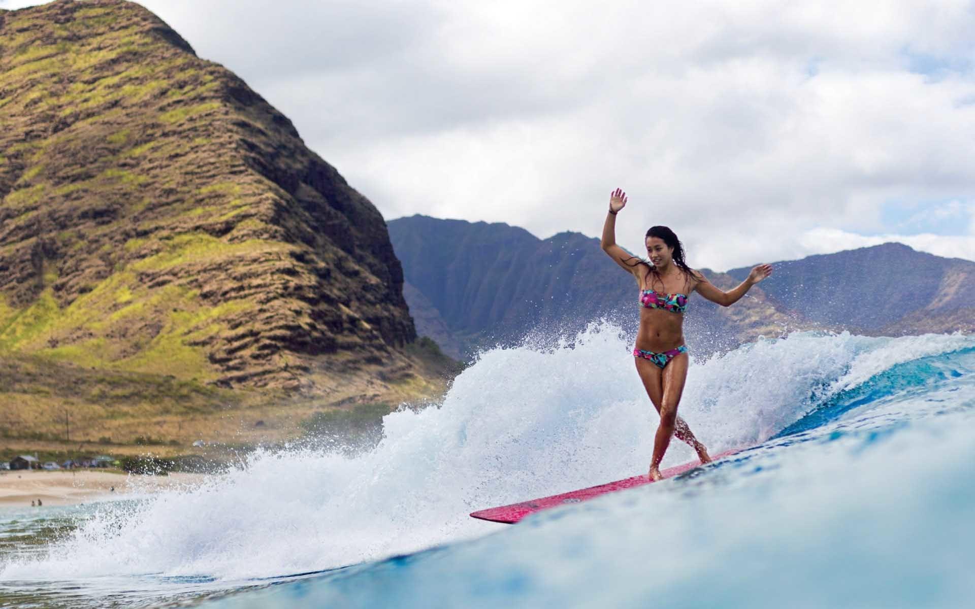 Surfer Girl Desktop Wallpaper 58684