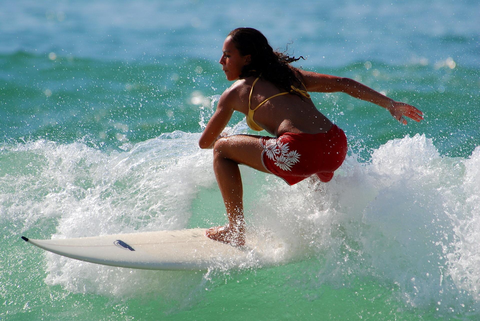 Surfer Girl Wallpaper   … girl hd desktop Sunset Surfer Girl  Sexy Waves