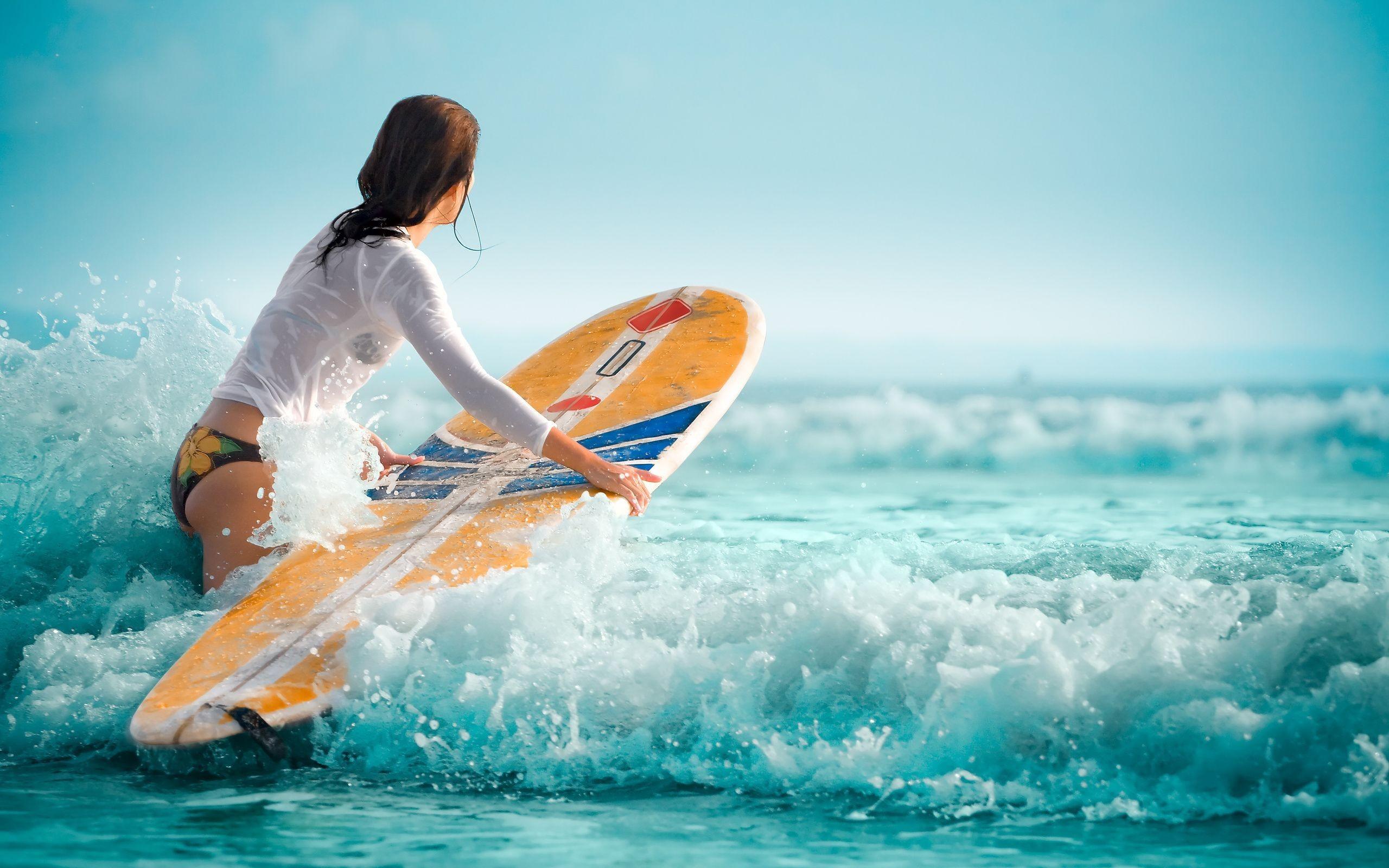 Hot surfing girl full hd wallpaper