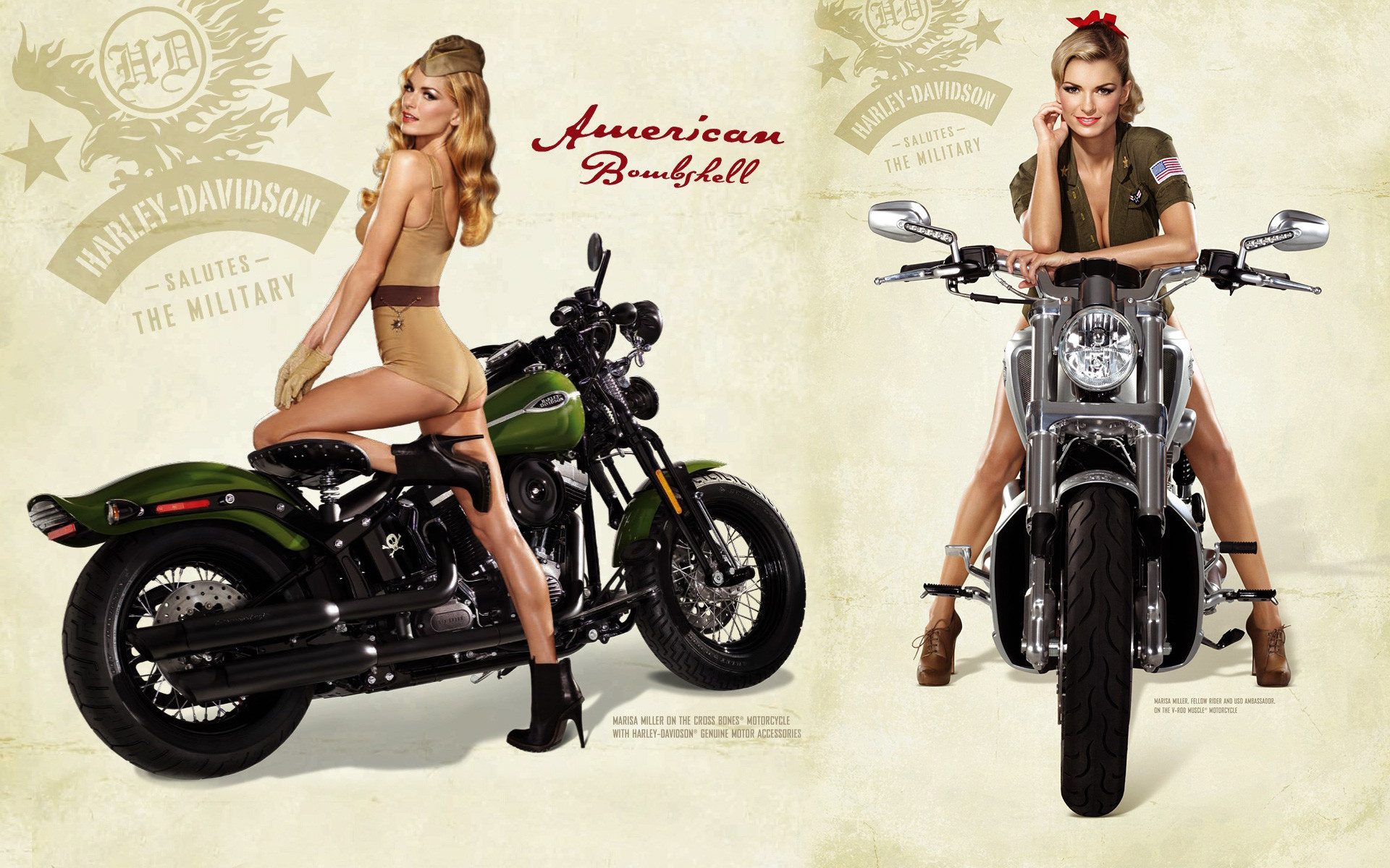 Pin Up Girl Cafe Racer Wallpaper — Hot Sexy Blonde On Harley Davidson .
