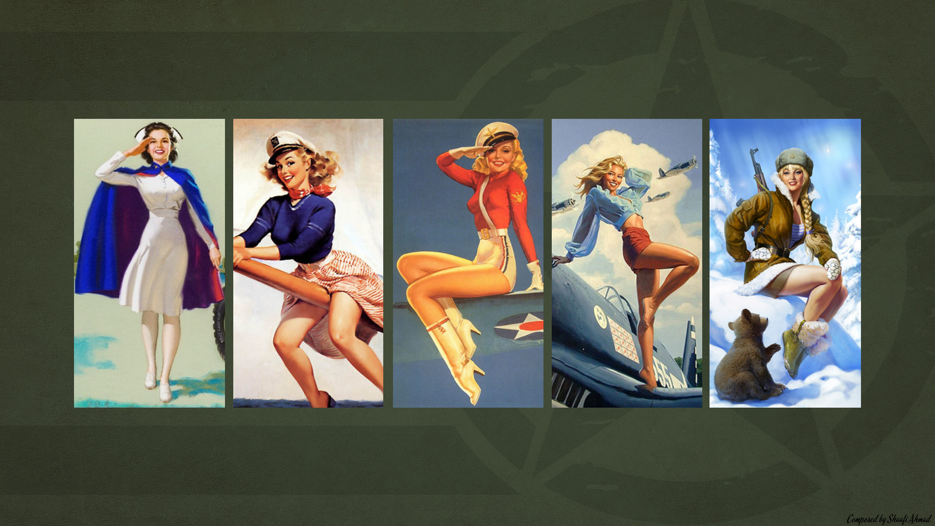 Army Themed Pin Up Wallpaper. 2 yrs · coolfield7 · r/Military