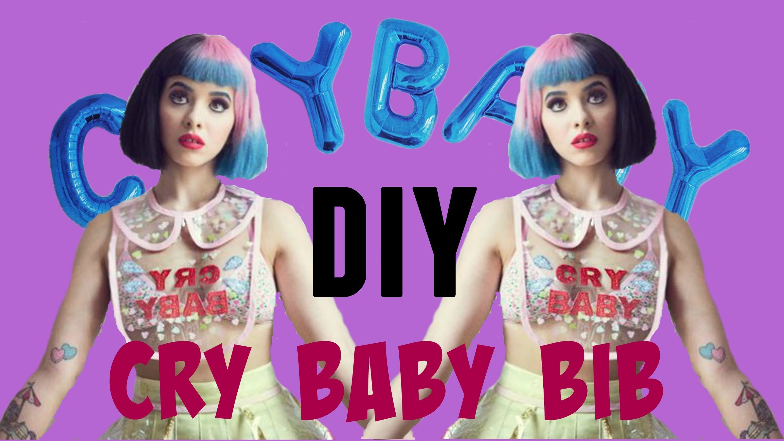 DIY Melanie Martinez outfit | Cry Baby bib | Fake it to make it #6 – YouTube