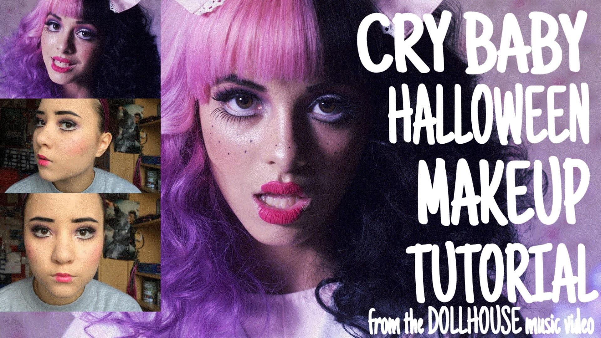 CRY BABY (Melanie Martinez – Dollhouse) // HALLOWEEN MAKEUP TUTORIAL –  YouTube