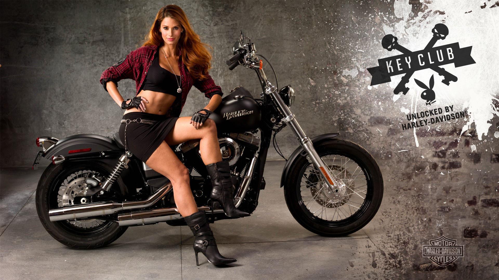 Moto Girl Pin Up Motorcycle Wallpaper
