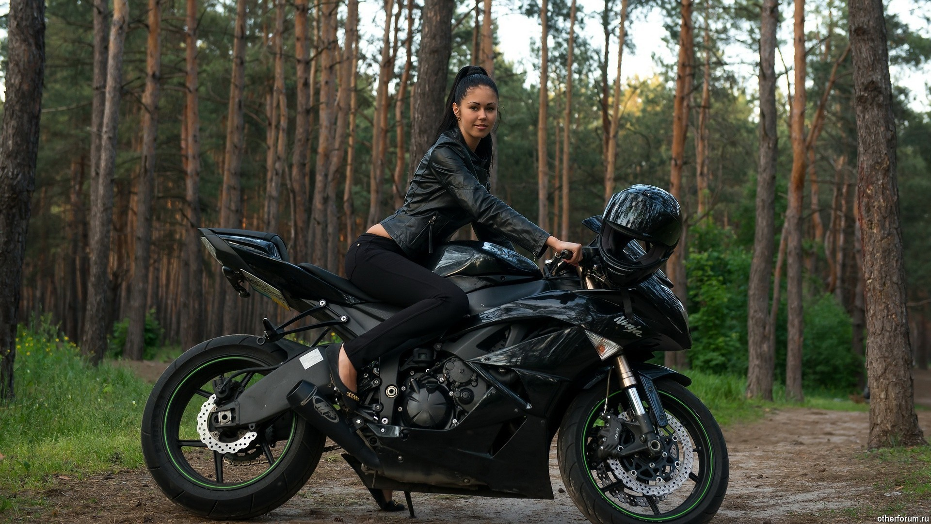 Women and Motorcycles Wallpaper.  Motocycles___Motorcycles_and_girls_Women_Kawasaki_Ninja_motorcycle .