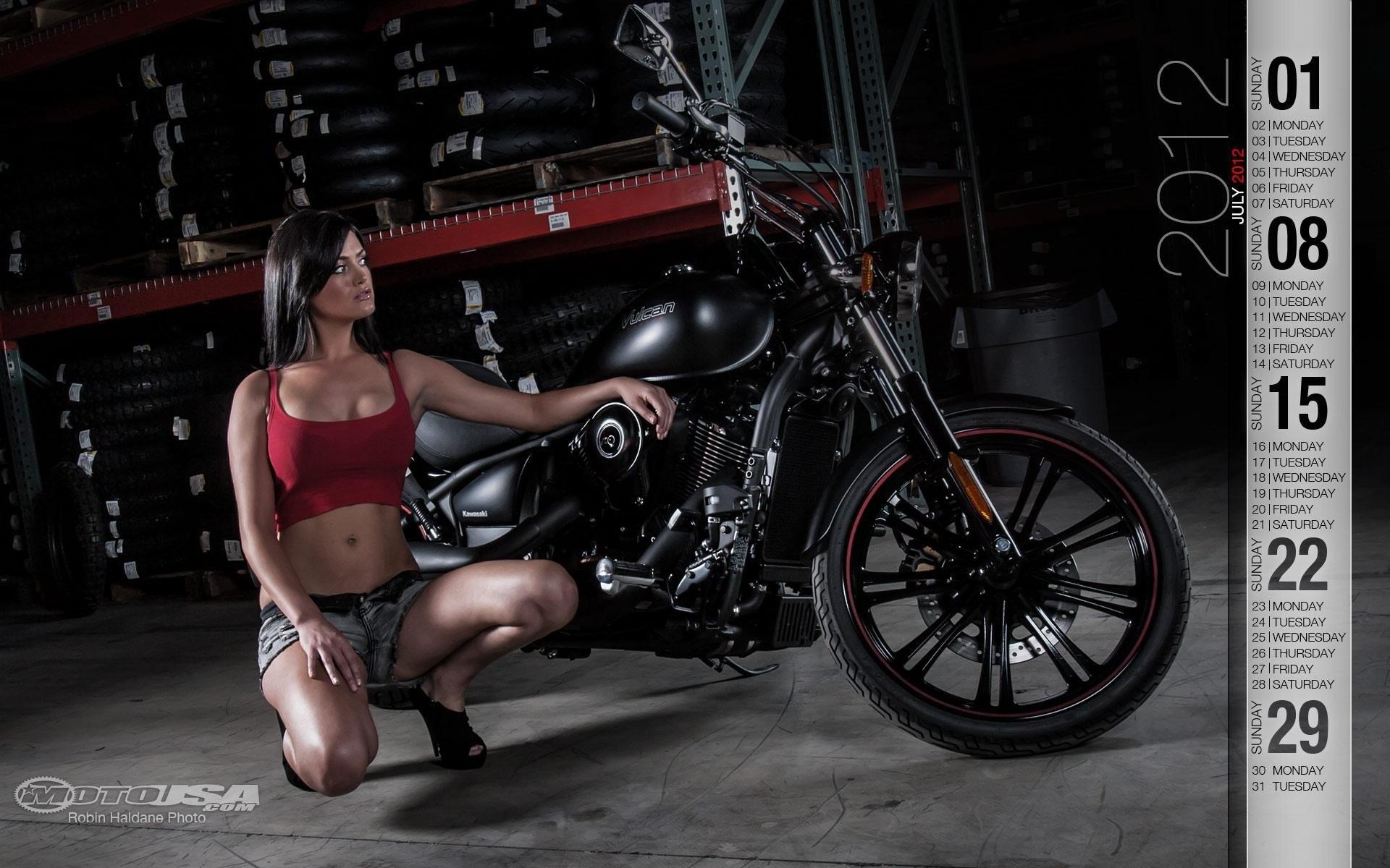 Custom Kawasaki 2012. SHARE. TAGS: Calendars Gallery Photo Motorcycle Girl  Chopper