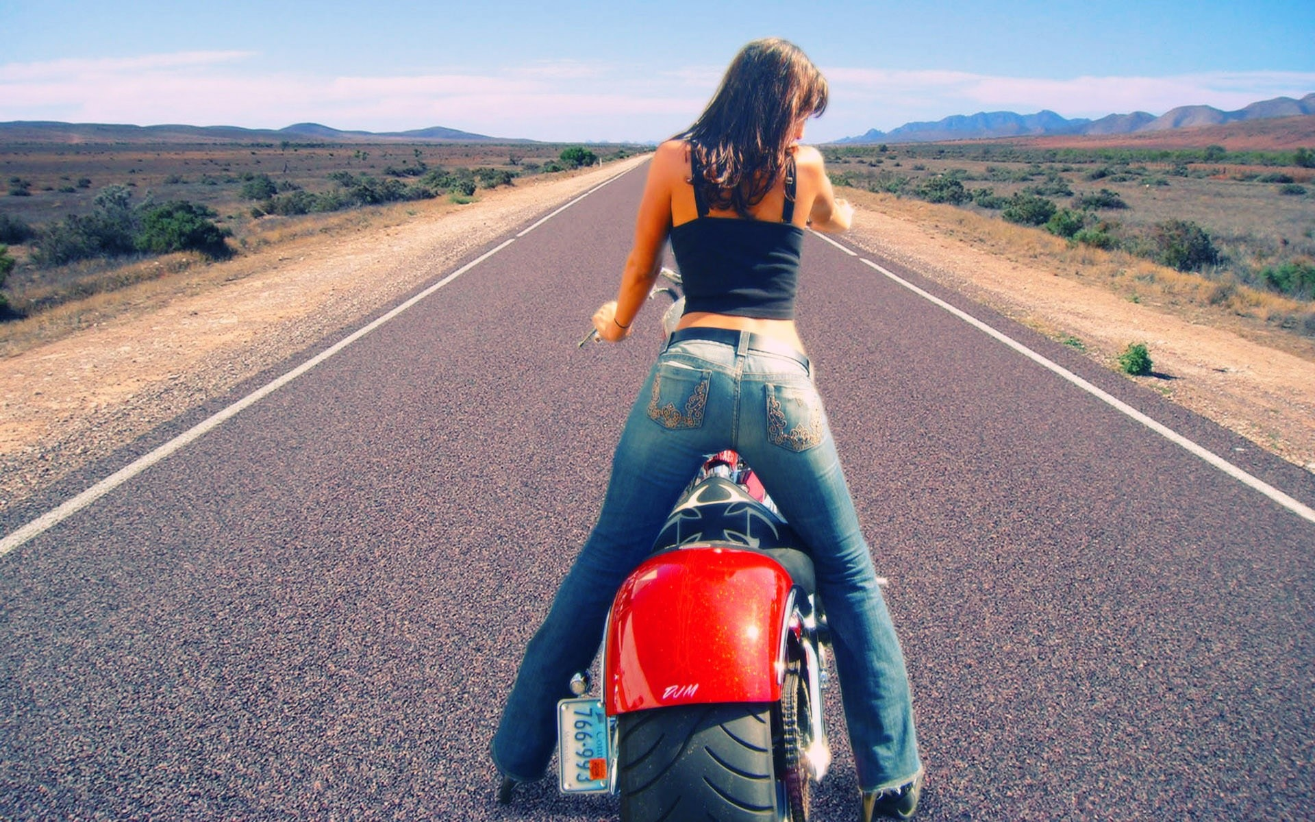 Girls on Motorcycles Wallpapers