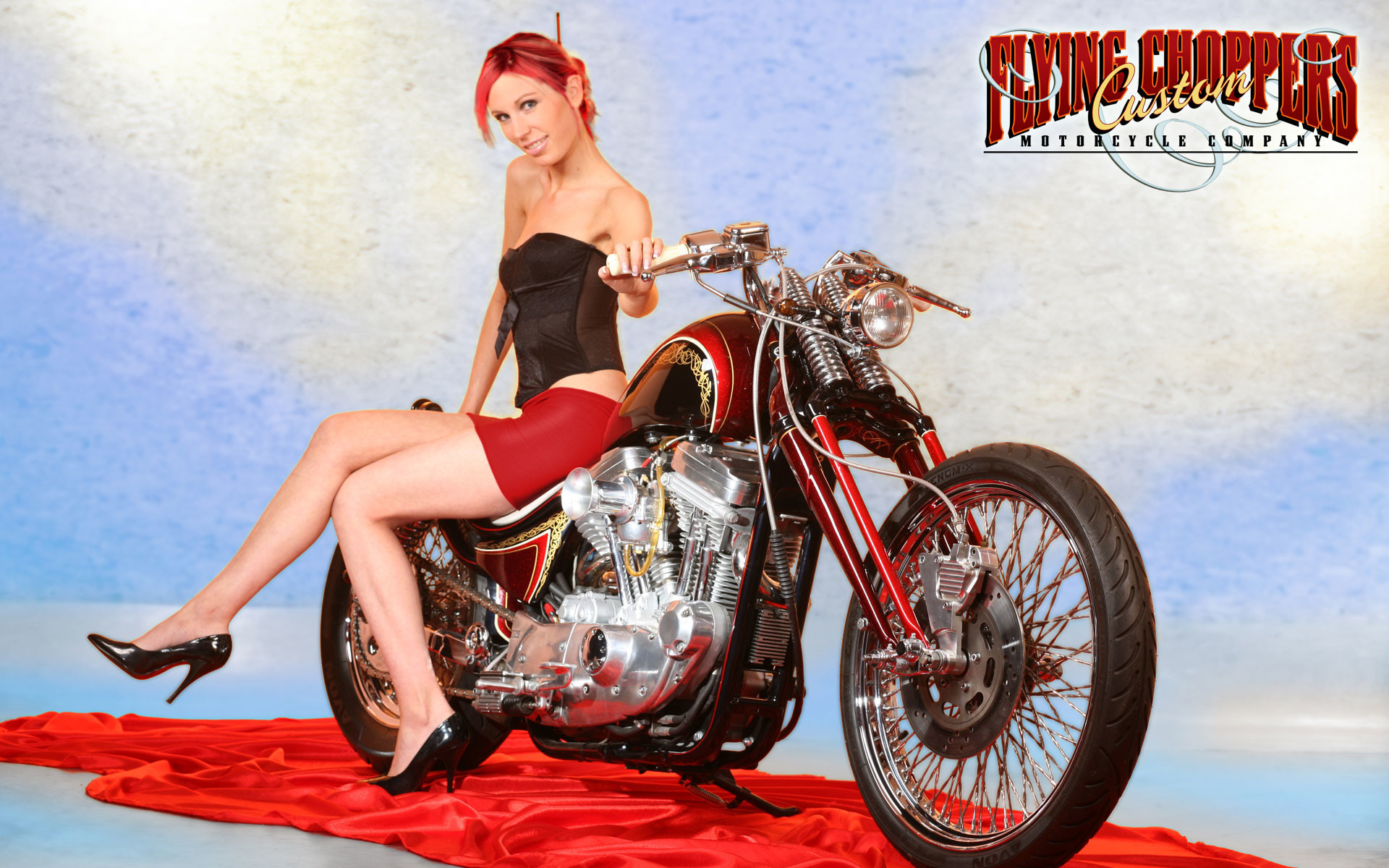 girls and motorcycles Wallpaper Background   44659