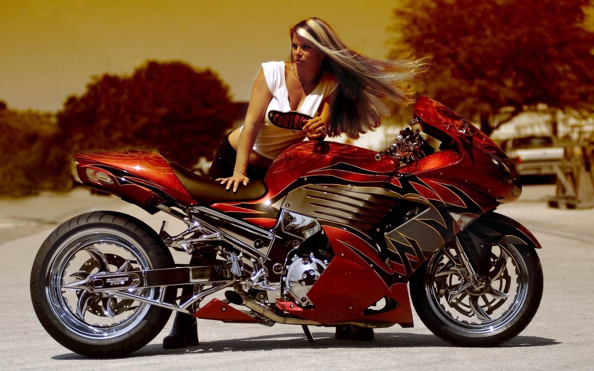 HD Wallpaper   Background ID:241544. Women Girls & Motorcycles