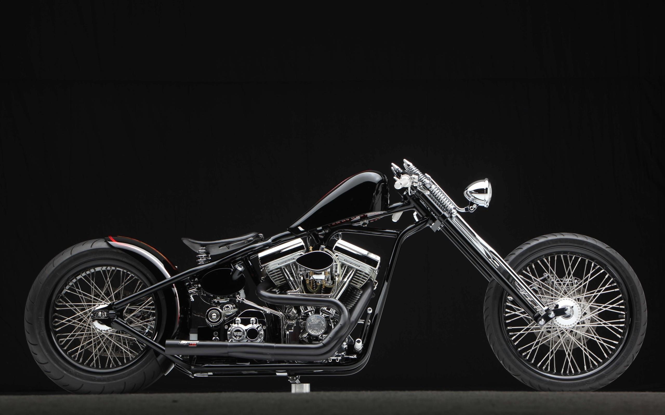 Motorcycle bike motorbike chopper custom wallpaper   .
