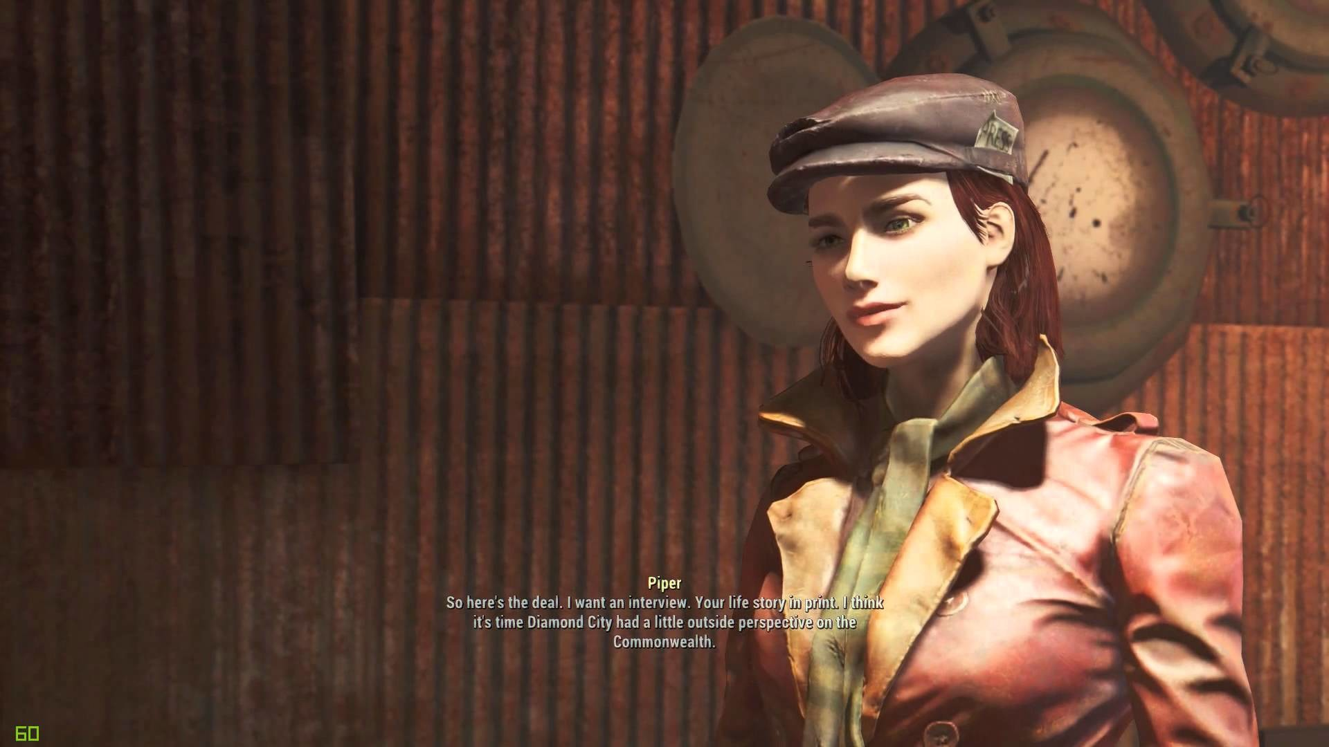 Companion Piper as Gorgeous Vault Girl