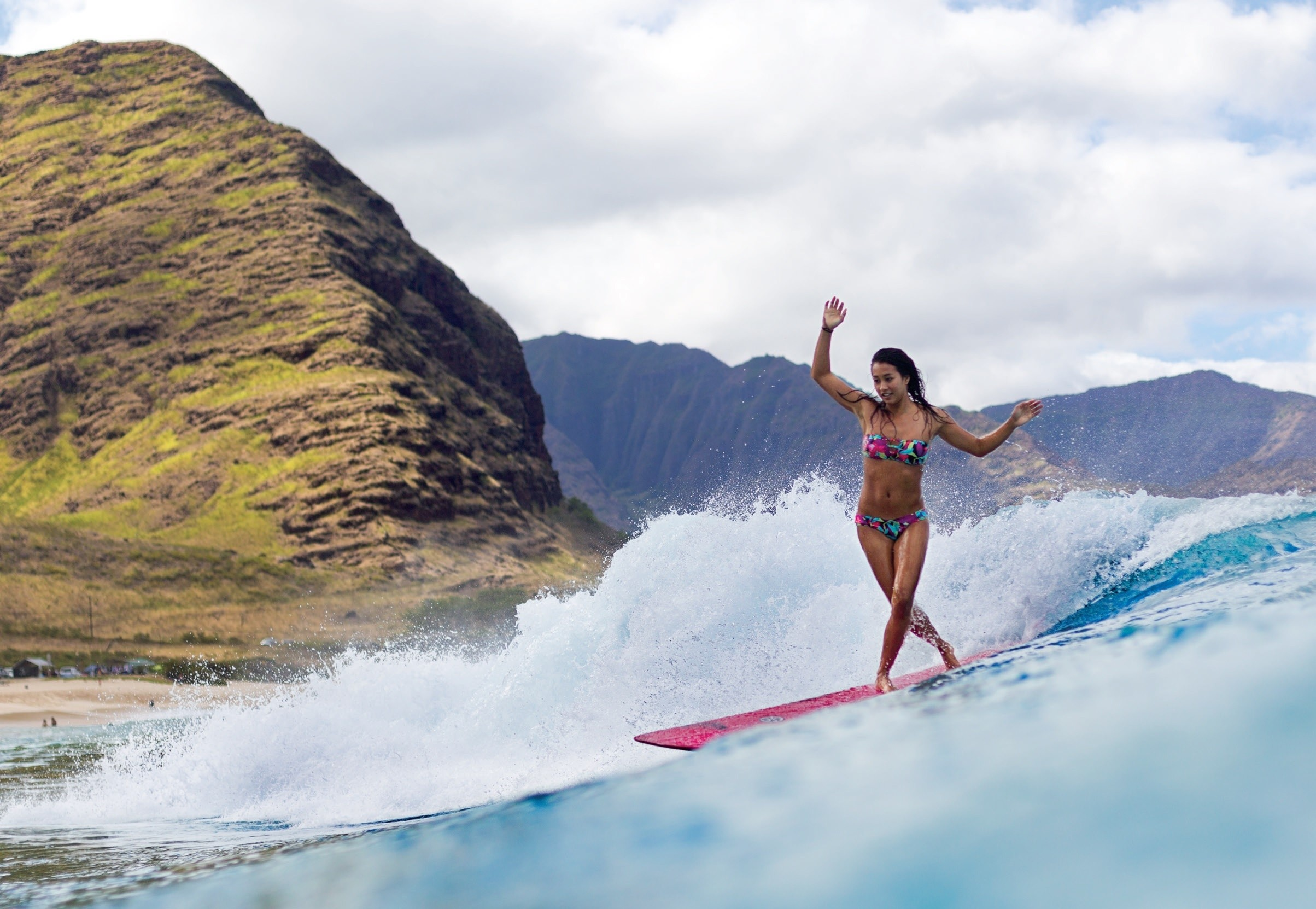 Surfing ocean girl surfing mountain r wallpaper | | 117561 .