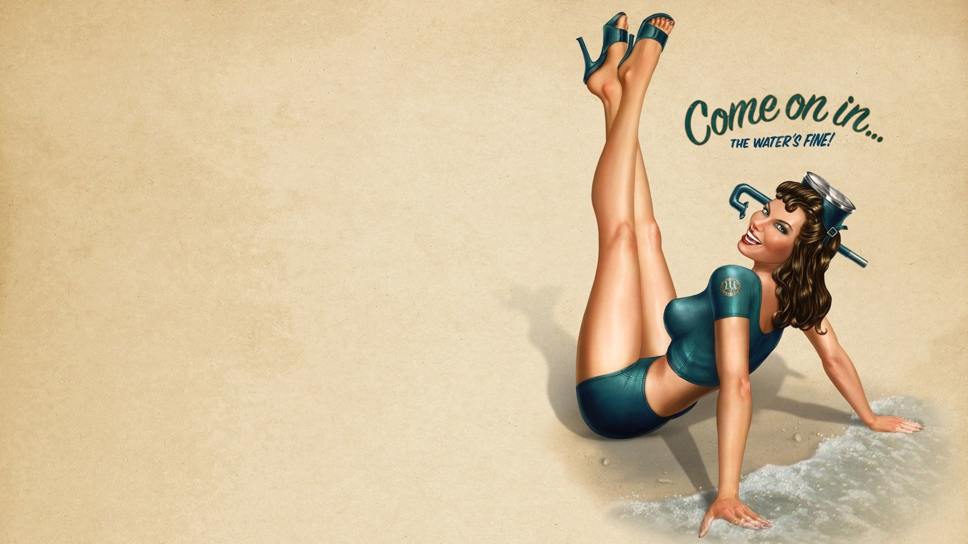 High Resolution Vintage Girl Pin Up Wallpaper HD 10 Full Size .