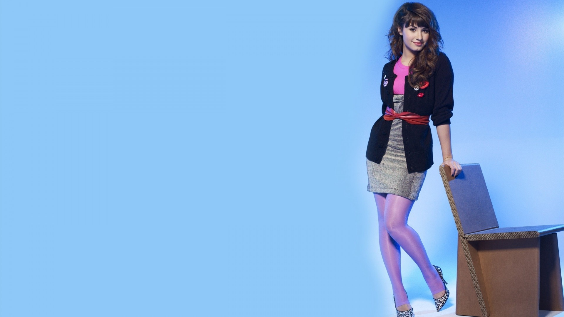 Preview wallpaper demi lovato, style, girl, pin-up 1920×1080