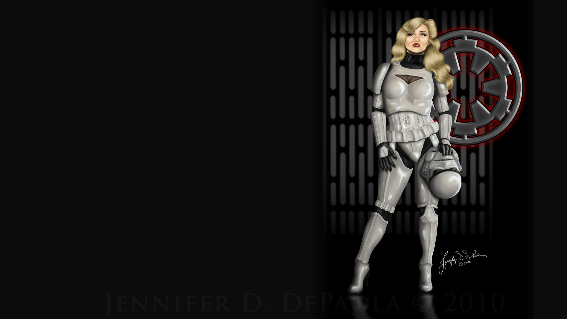 stormtrooper pin up girl style ipad wallpaper hd Car Pictures