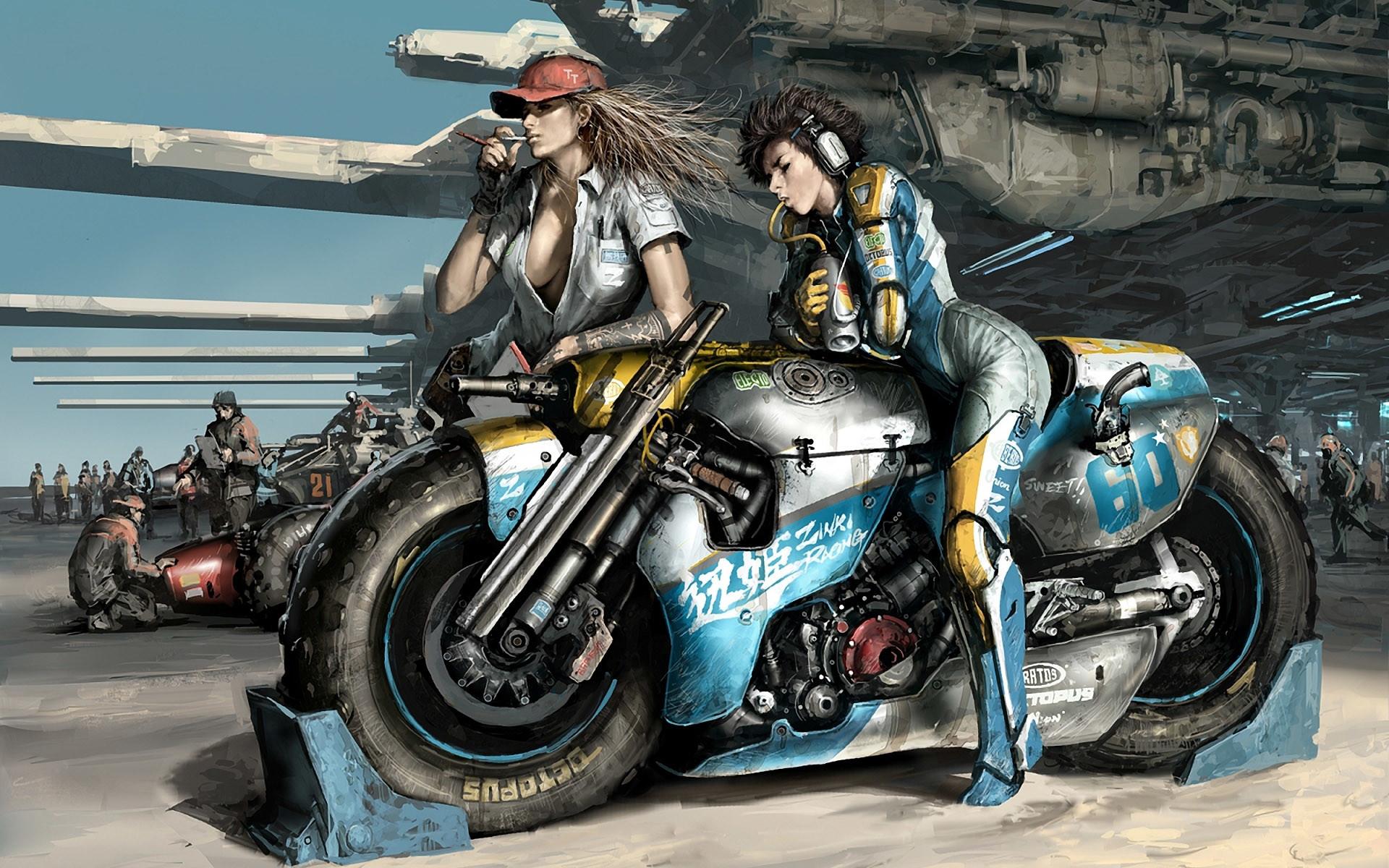 Wipeout Artwork Motorbikes Girls With Bikes Fresh New Hd Wallpaper