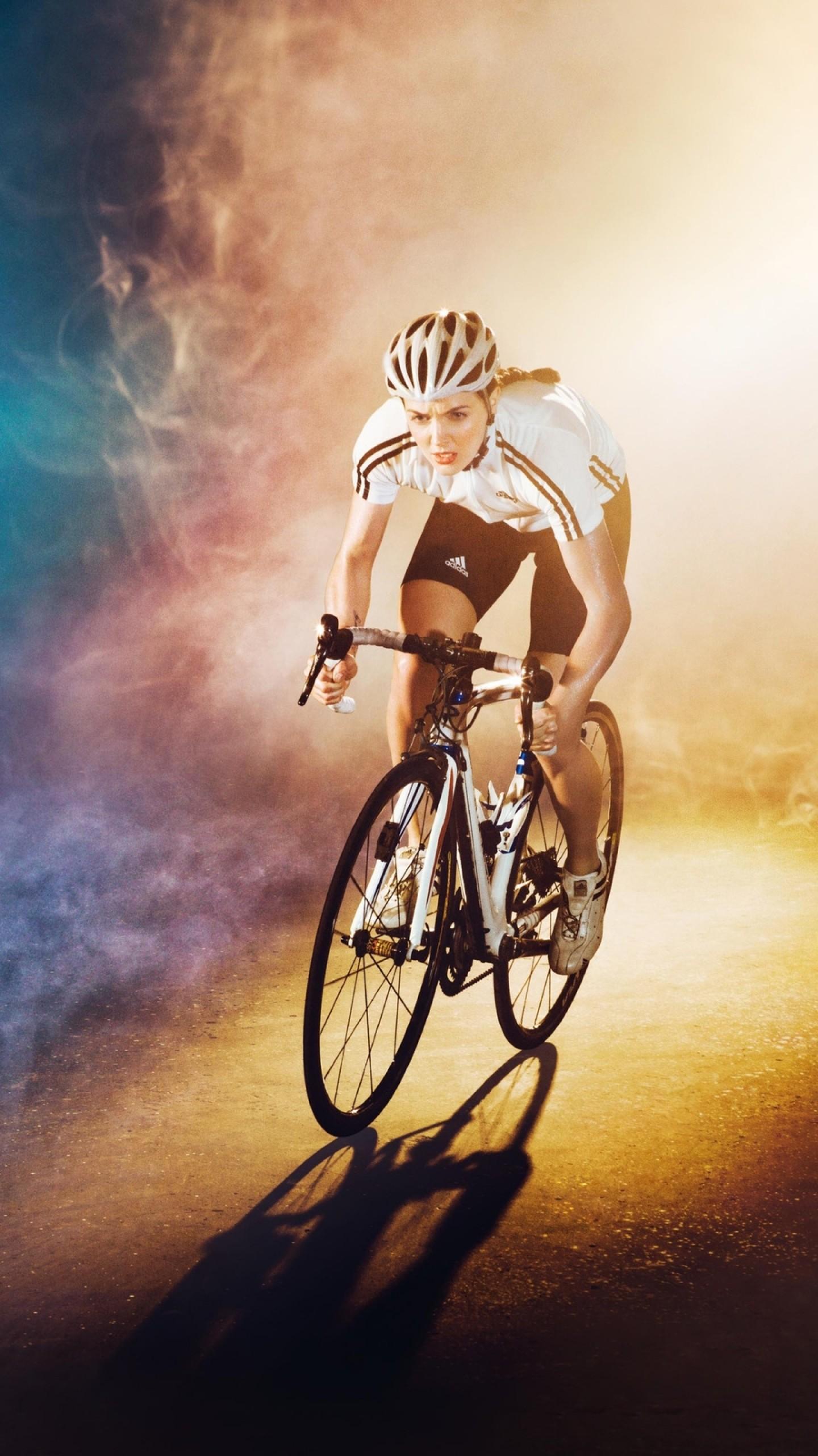 Wallpaper girl, contest, bike