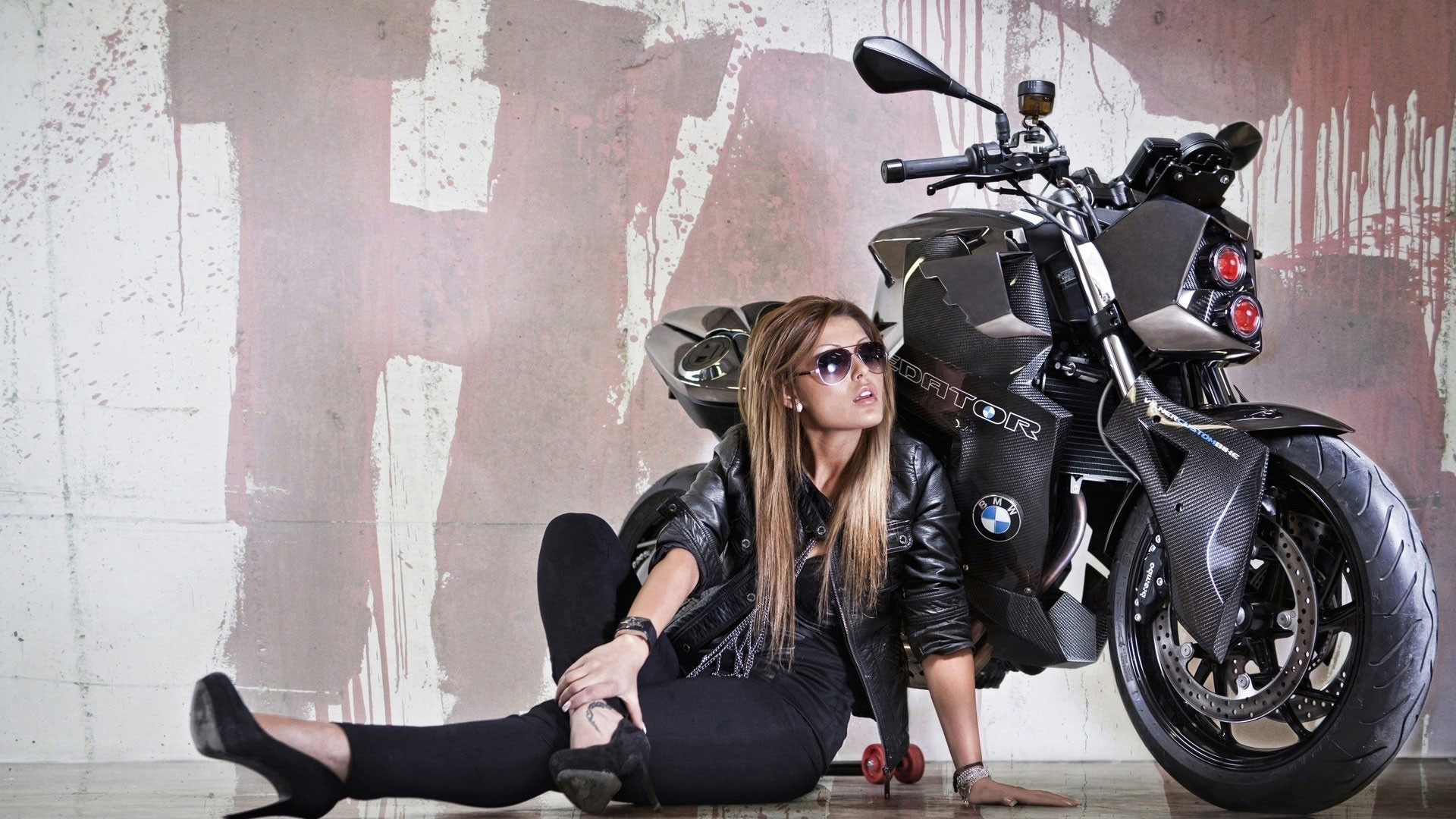 hd pics photos beautiful girl bike motor cycle bmw predator stunning hd  quality desktop background wallpaper