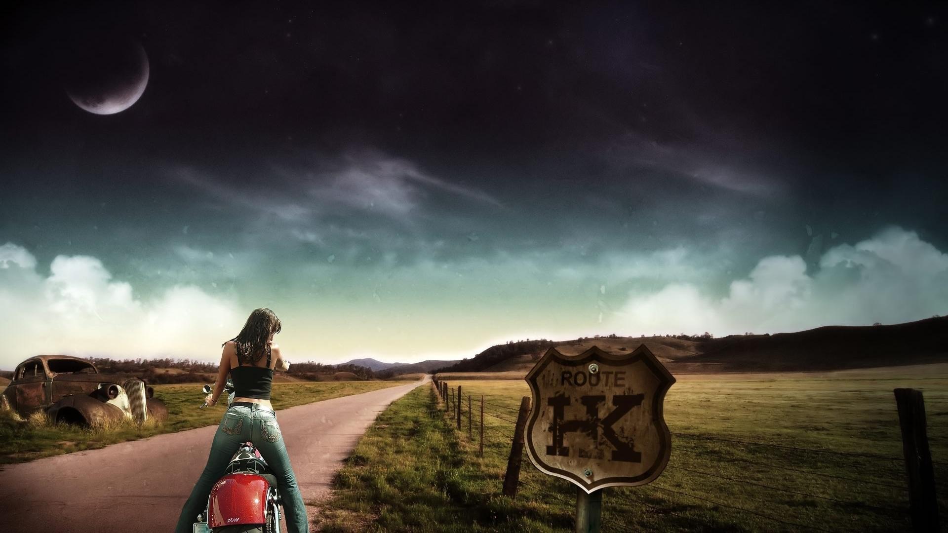 Motorcycle Girl 520693 …