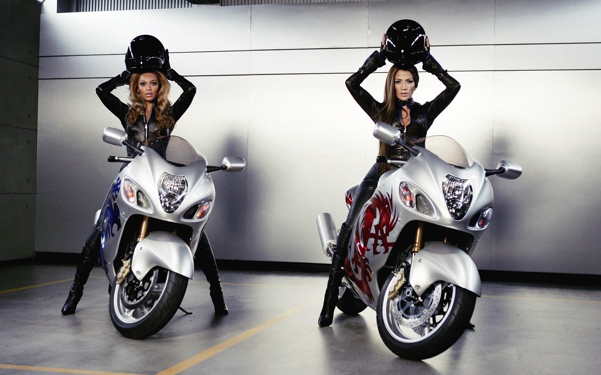 great biker girl wallpaper