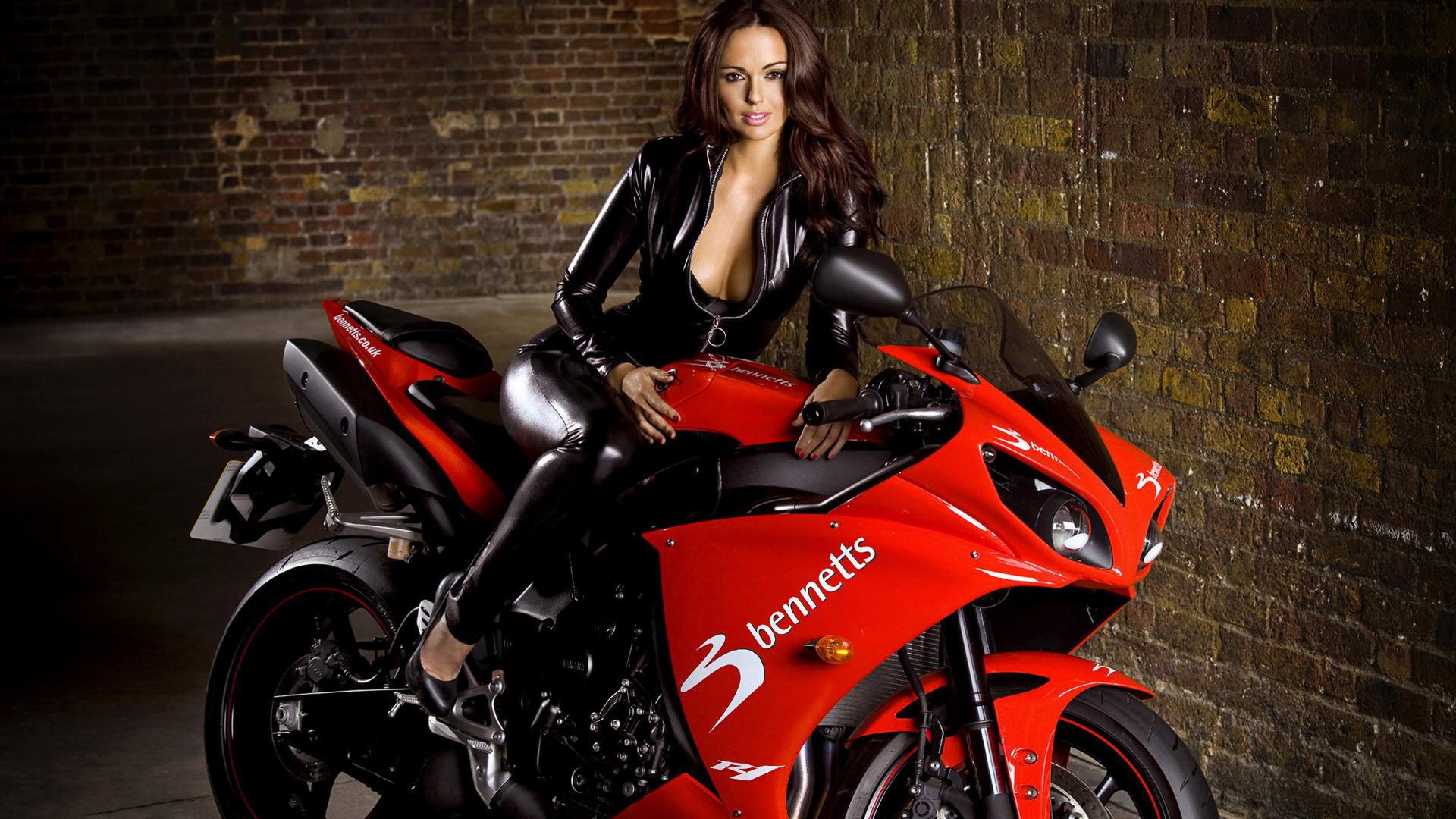Motorcycles Hot Girl on Bike