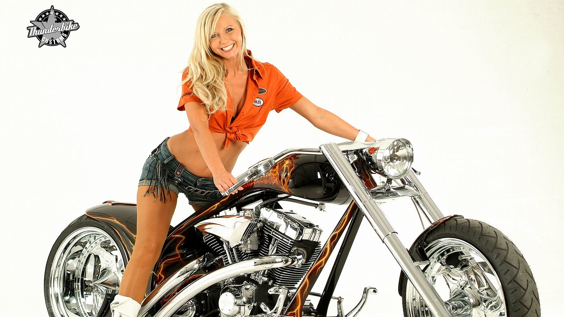 Free girls and motorcycles wallpaper background
