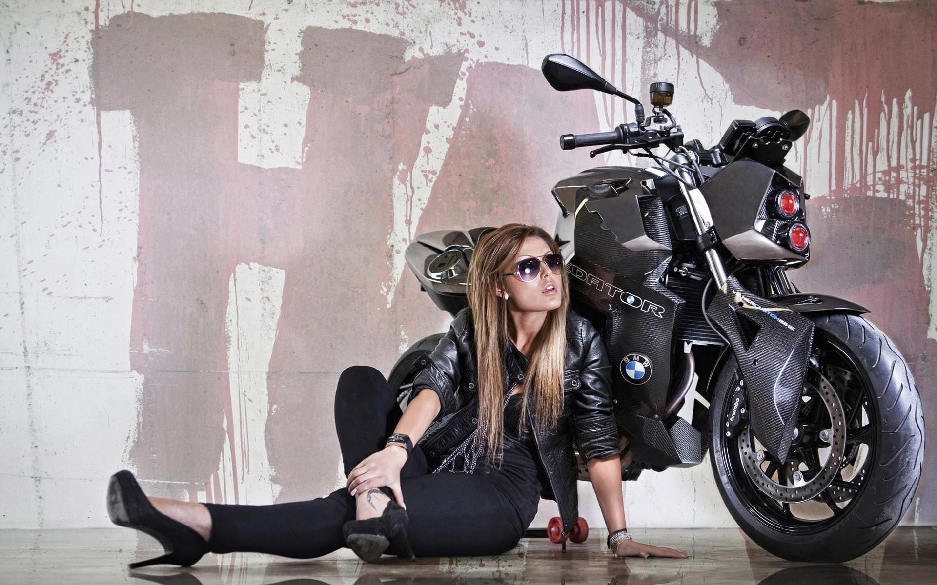 BMW F800R Girl Motorcycle HD Wallpaper