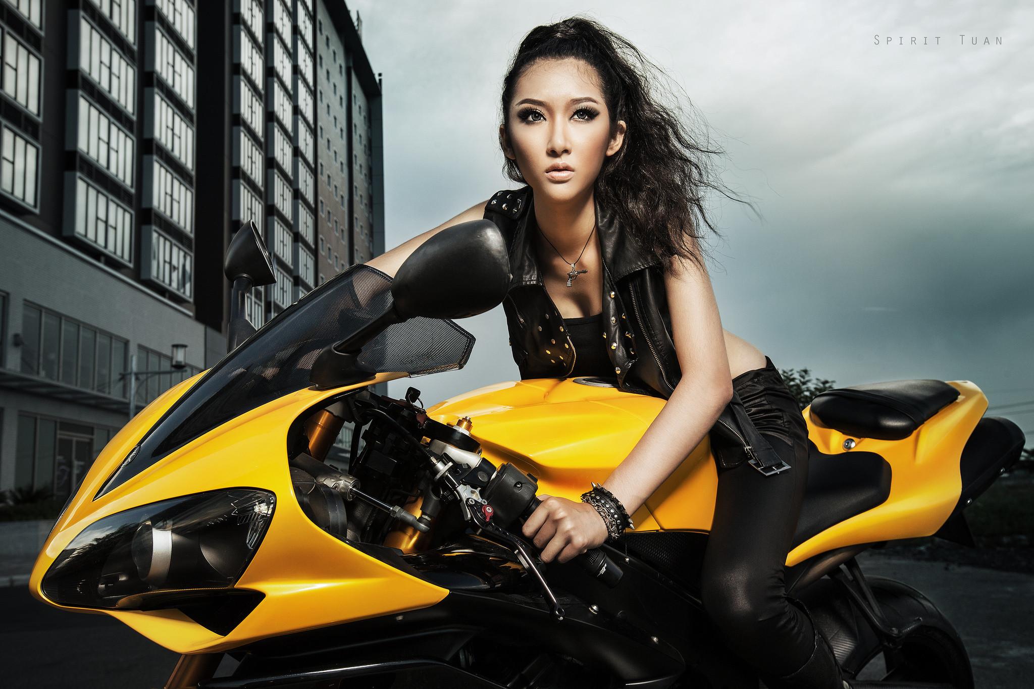 asian Motorcycle Babes | Kelly Khoa Nguyen asian bike motorcycles asian girl  girls wallpaper .