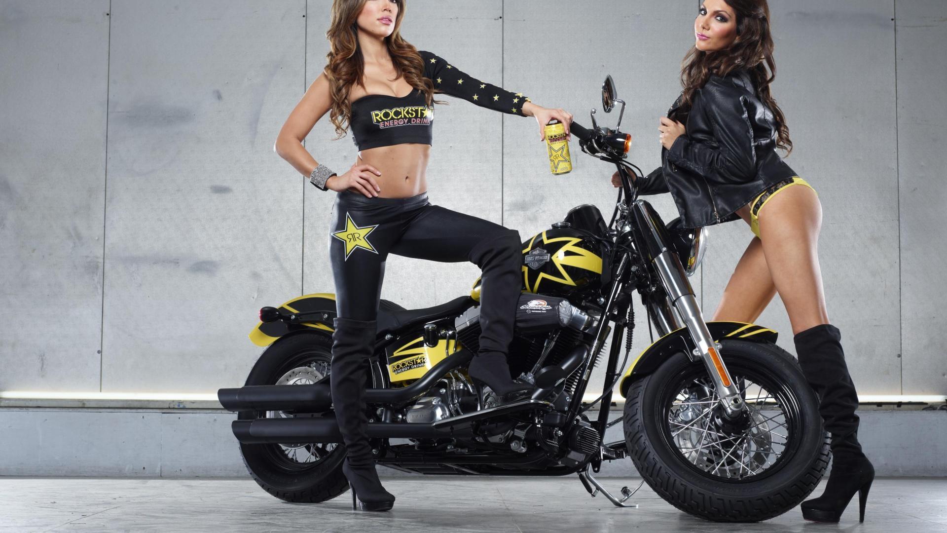 Rockstar Energy Harley Davidson Girls Picture