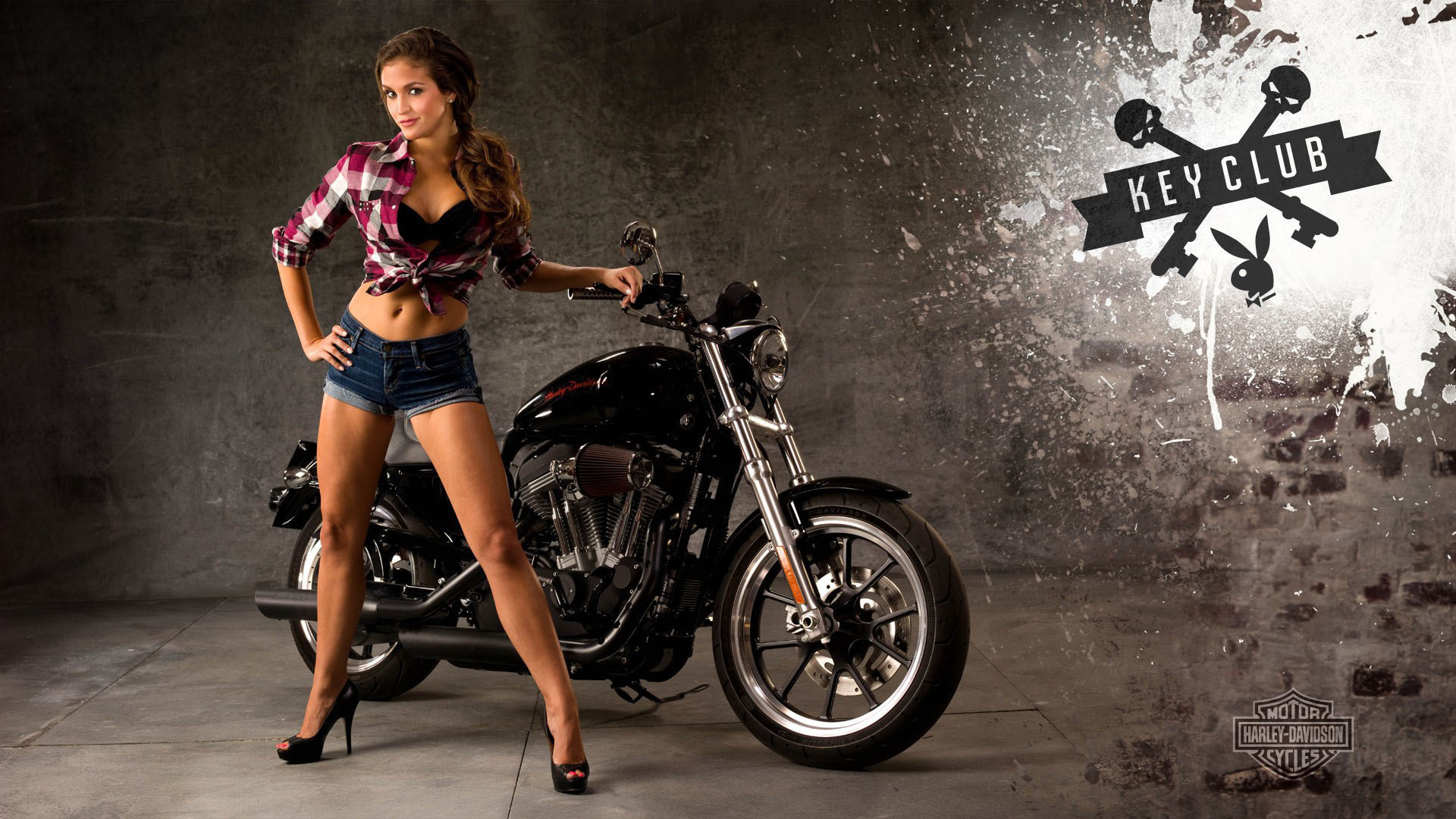 Moto, Girl, Motorcycle, Harley Davidson