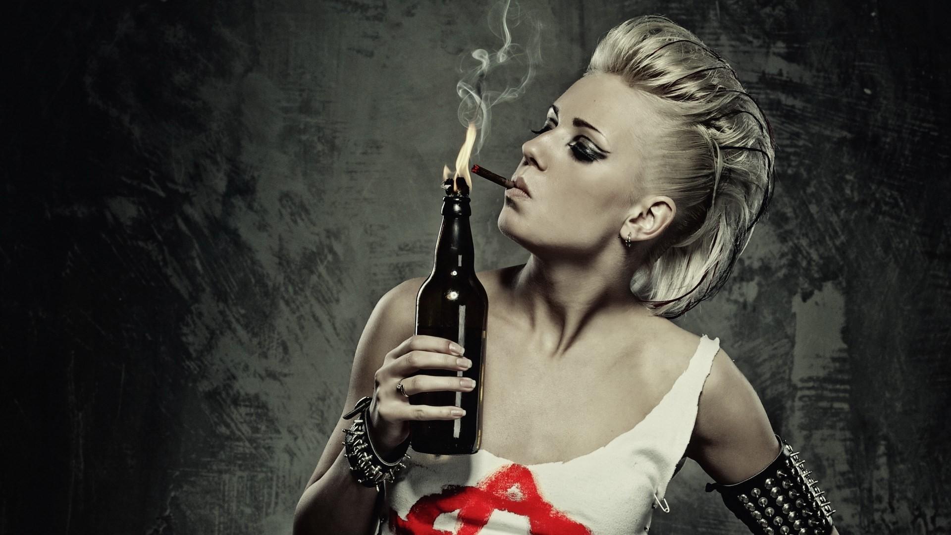 Punk Girl Smoking Molotov Cocktail HD Wallpaper | FreeHDWall.Com | Free HD  Wallpapers for