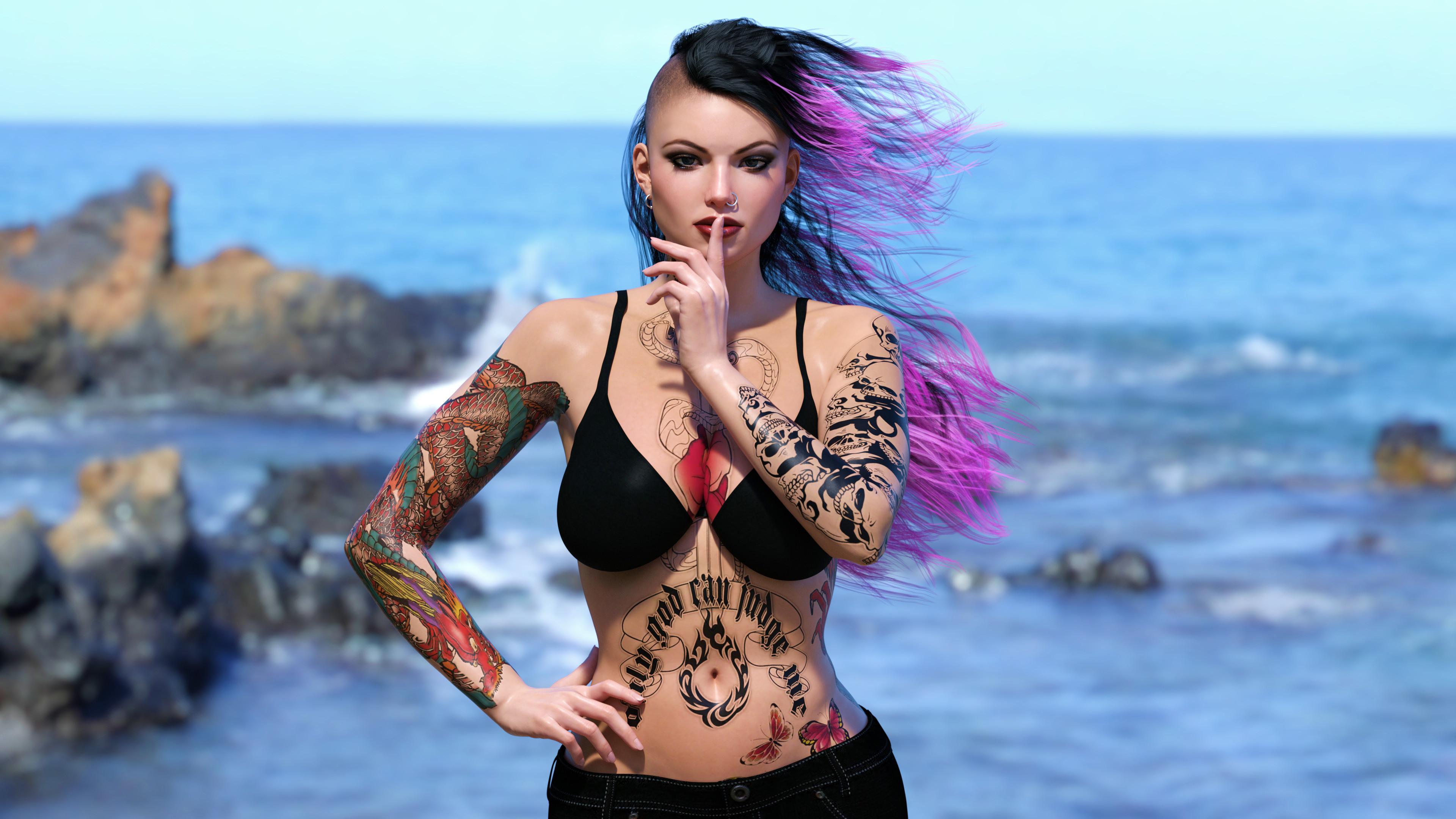 Punk Girl Beach 2 by AwakeOrStillDreaming Punk Girl Beach 2 by  AwakeOrStillDreaming