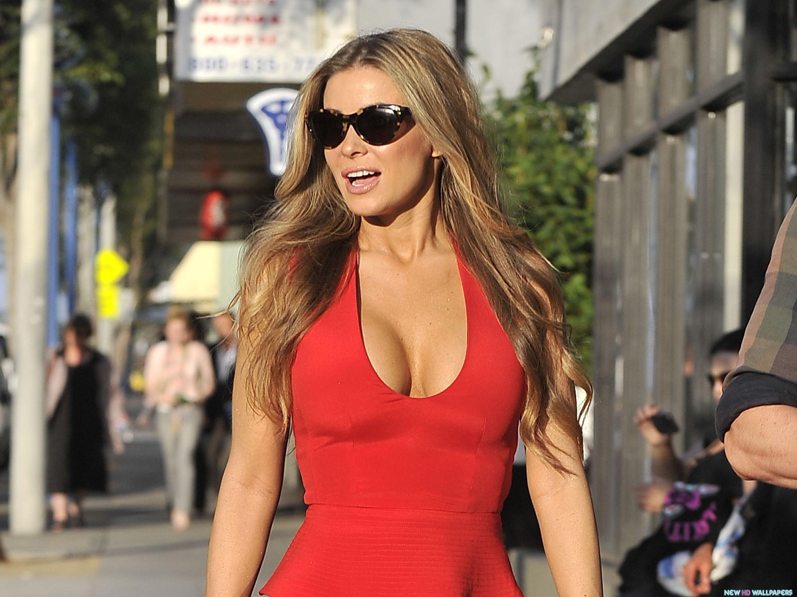 Carmen Electra Red Dress