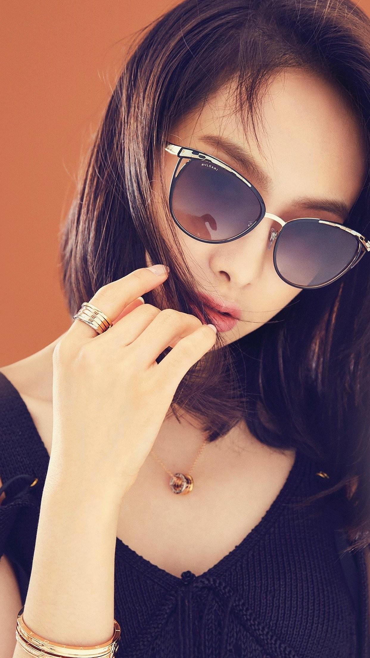 victoria kpop girl sunglass beauty iphone 7 wallpaper